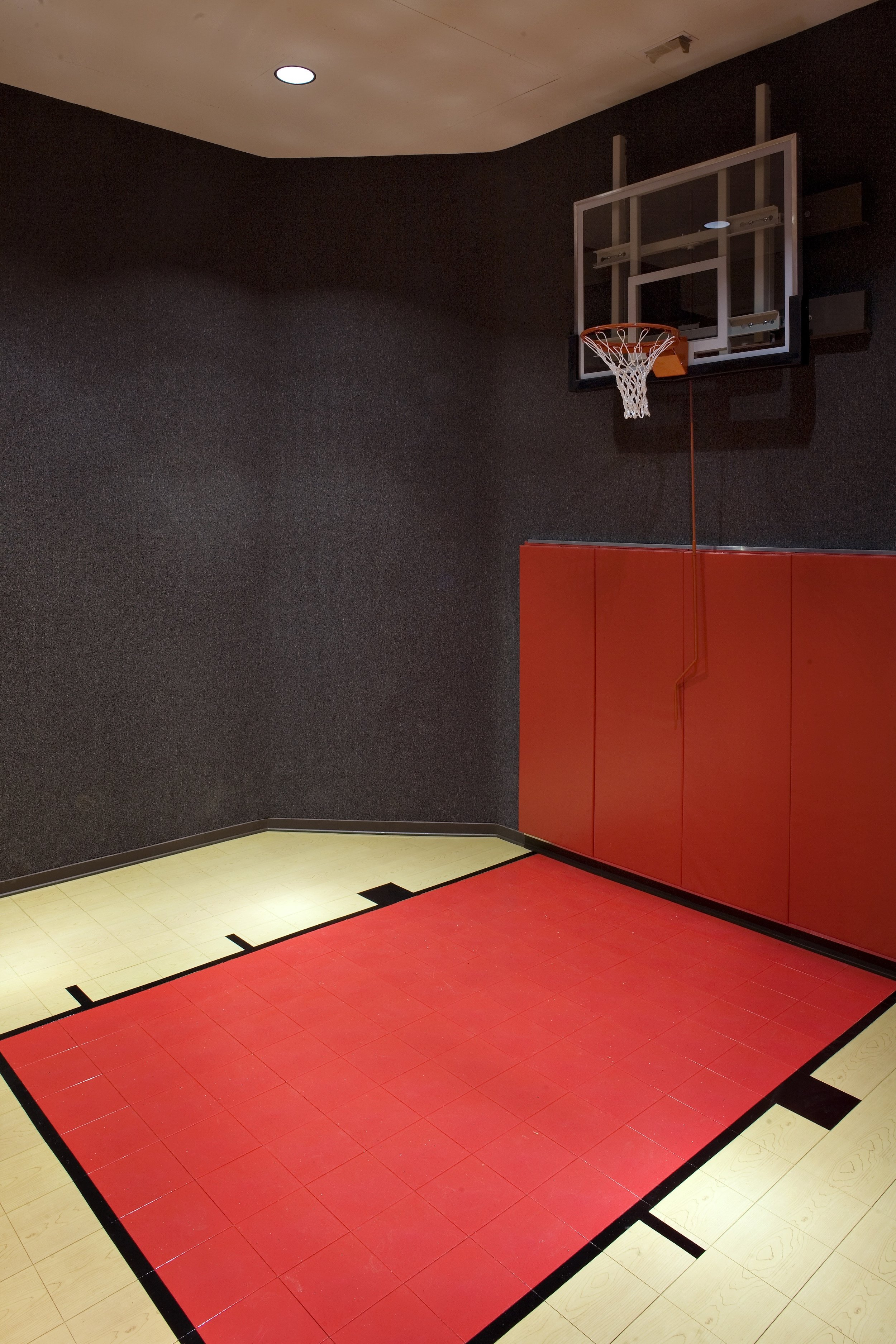 Red & Black Indoor Personal Basketball Court