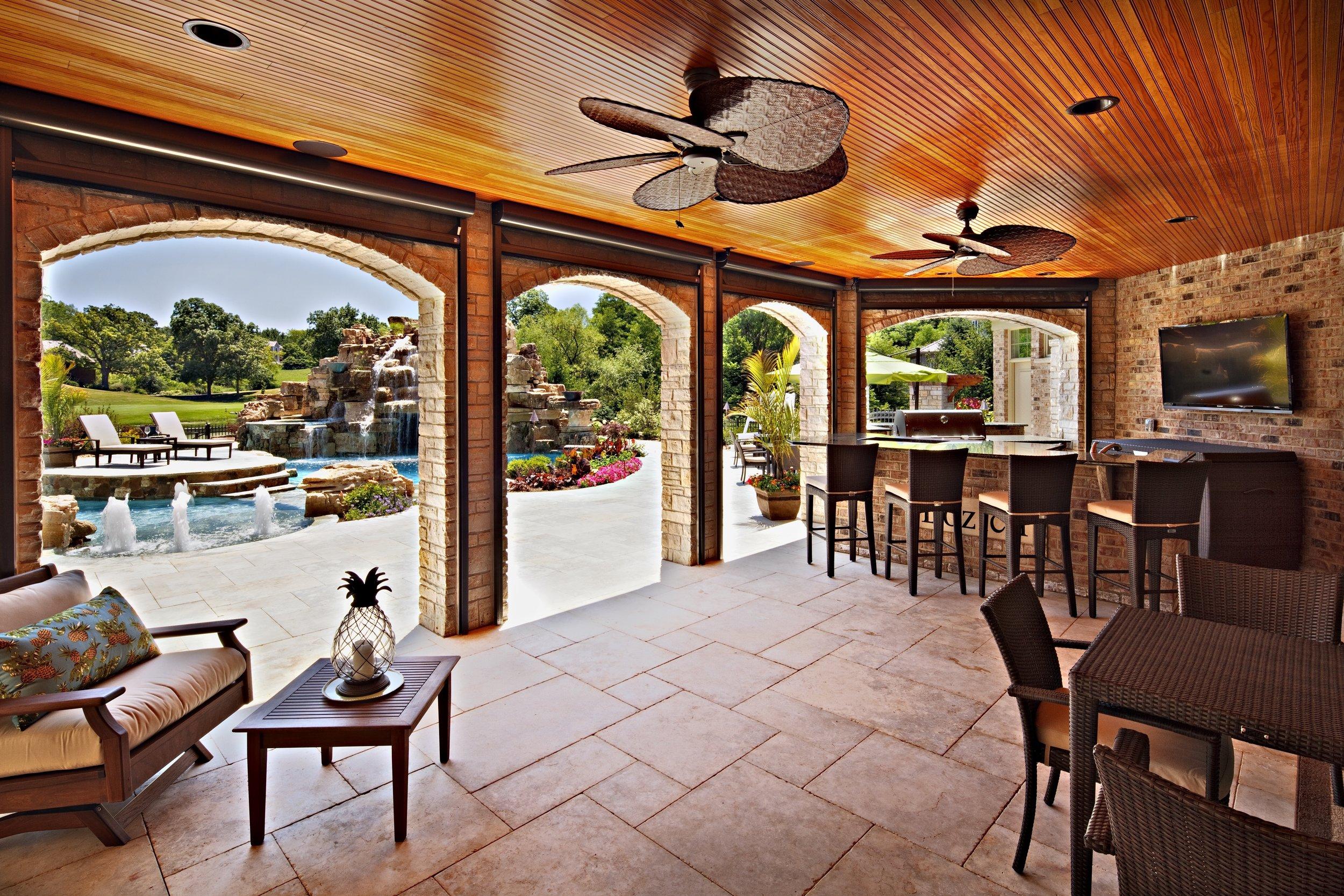 Oak Brook Walkout Basement Outdoor Kitchen &  Custom Pool