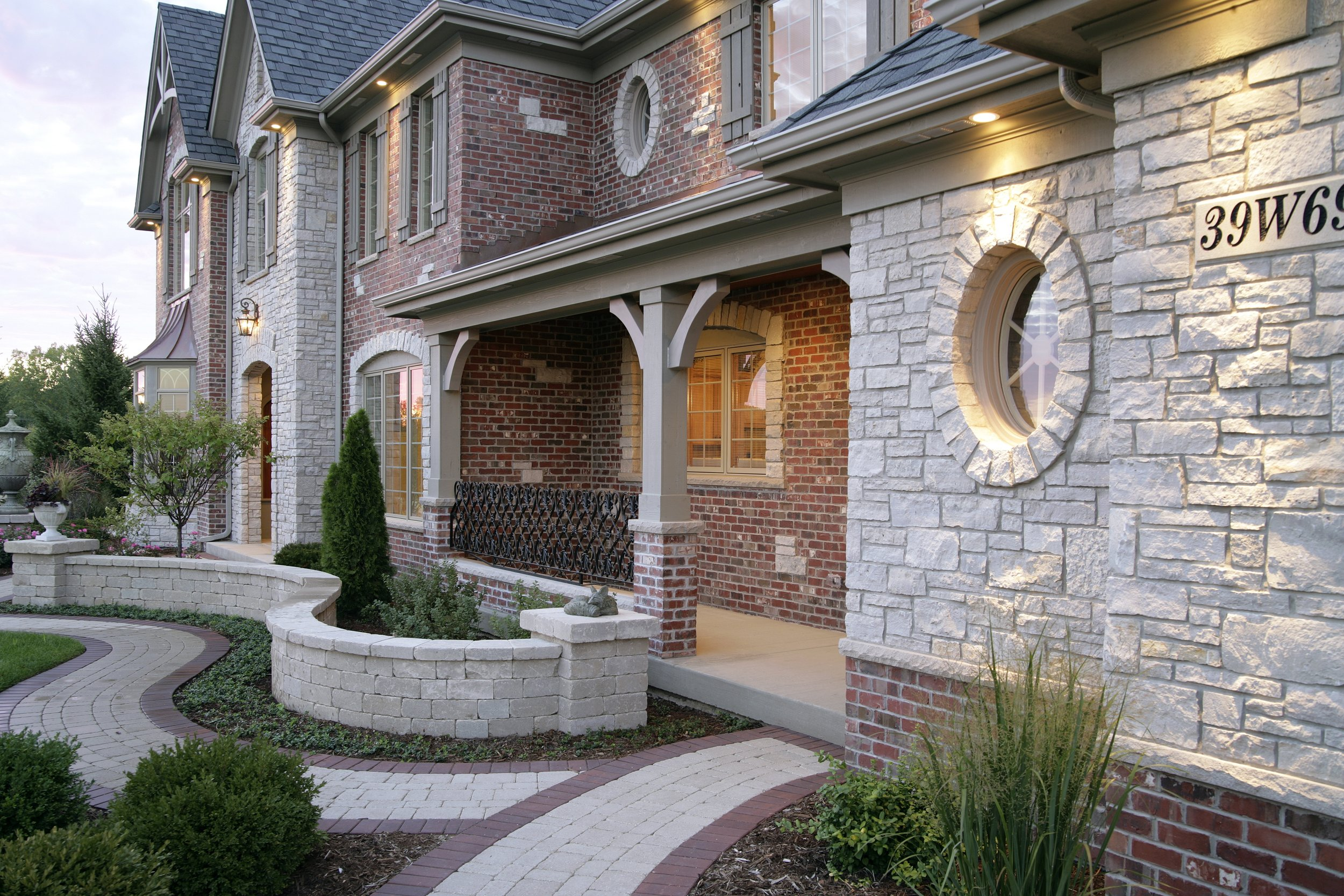 Prairie Lakes Custom Home by Southampton. St. Charles IL 60175. Brick and Stone Combination.