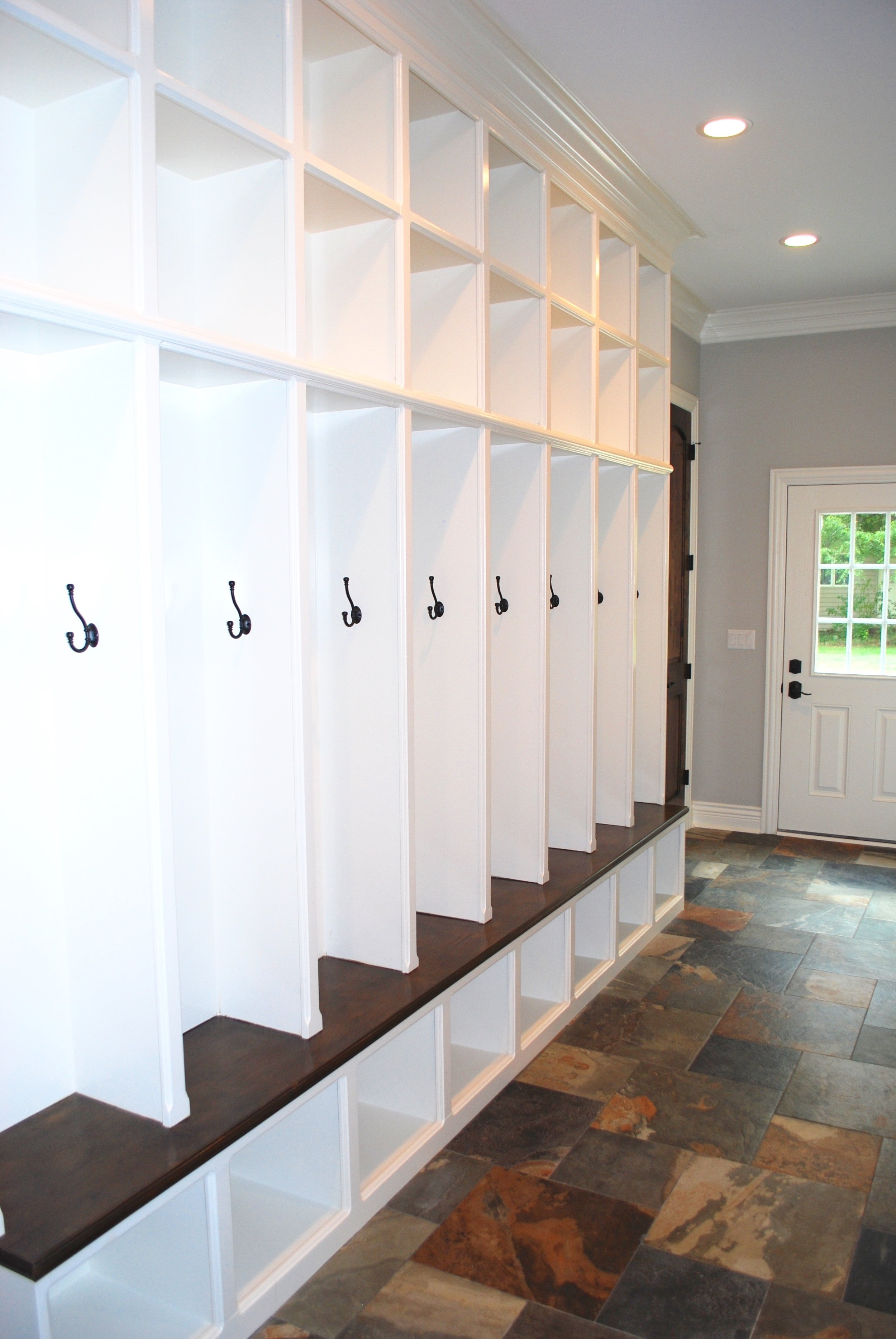 Custom Wooden Lockers & Cubbies Built on Site- Naperville IL.