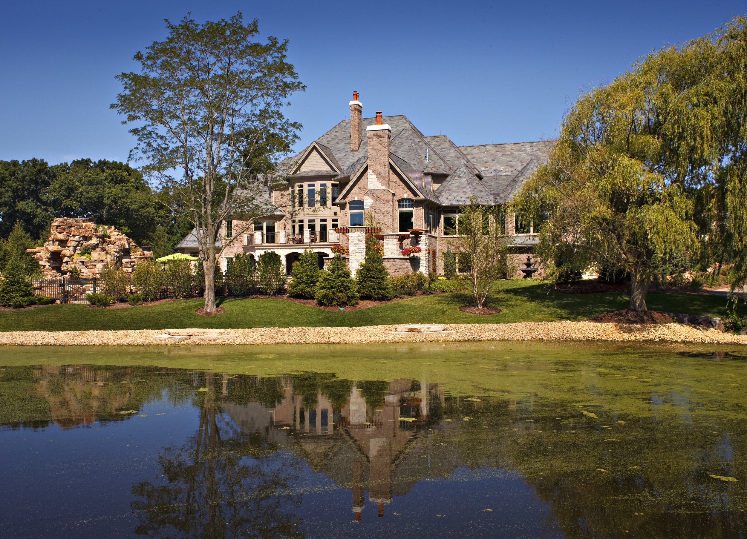 Luxury Custom Home On Pond in Northern Illinois by Southampton