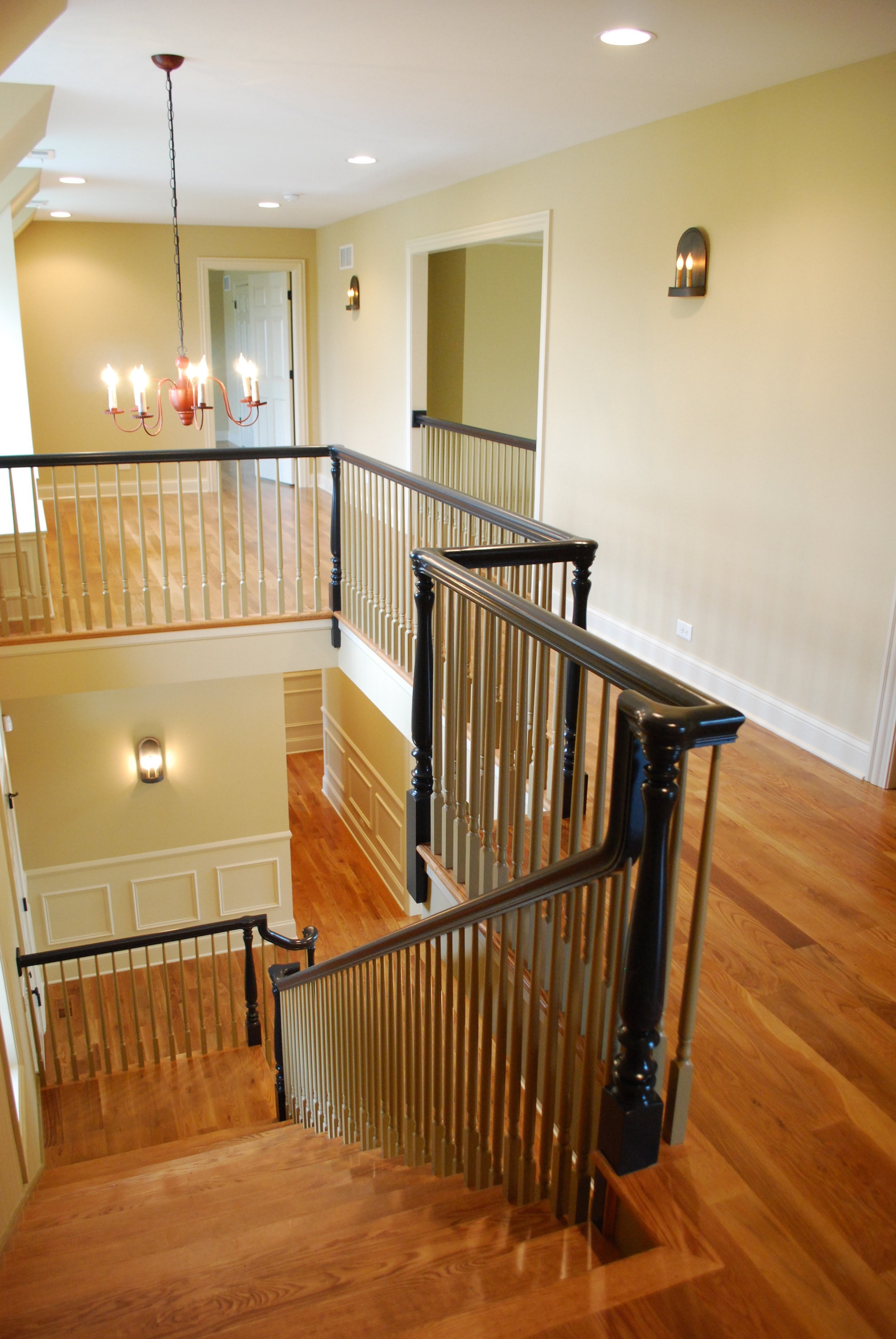 Historical Replication Staircase in this New Custom Home
