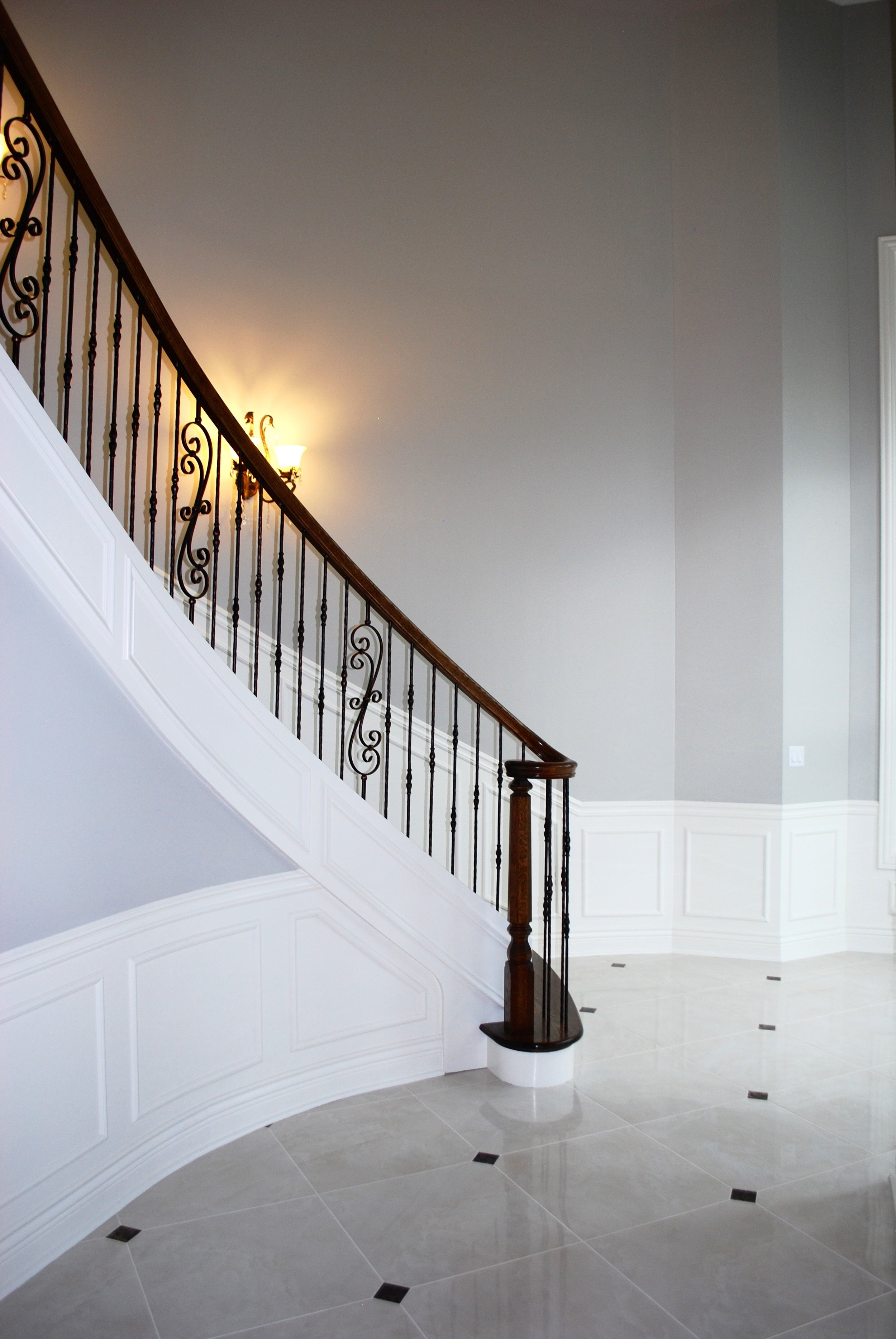 Dramatic Staircase in Custom Naperville Home