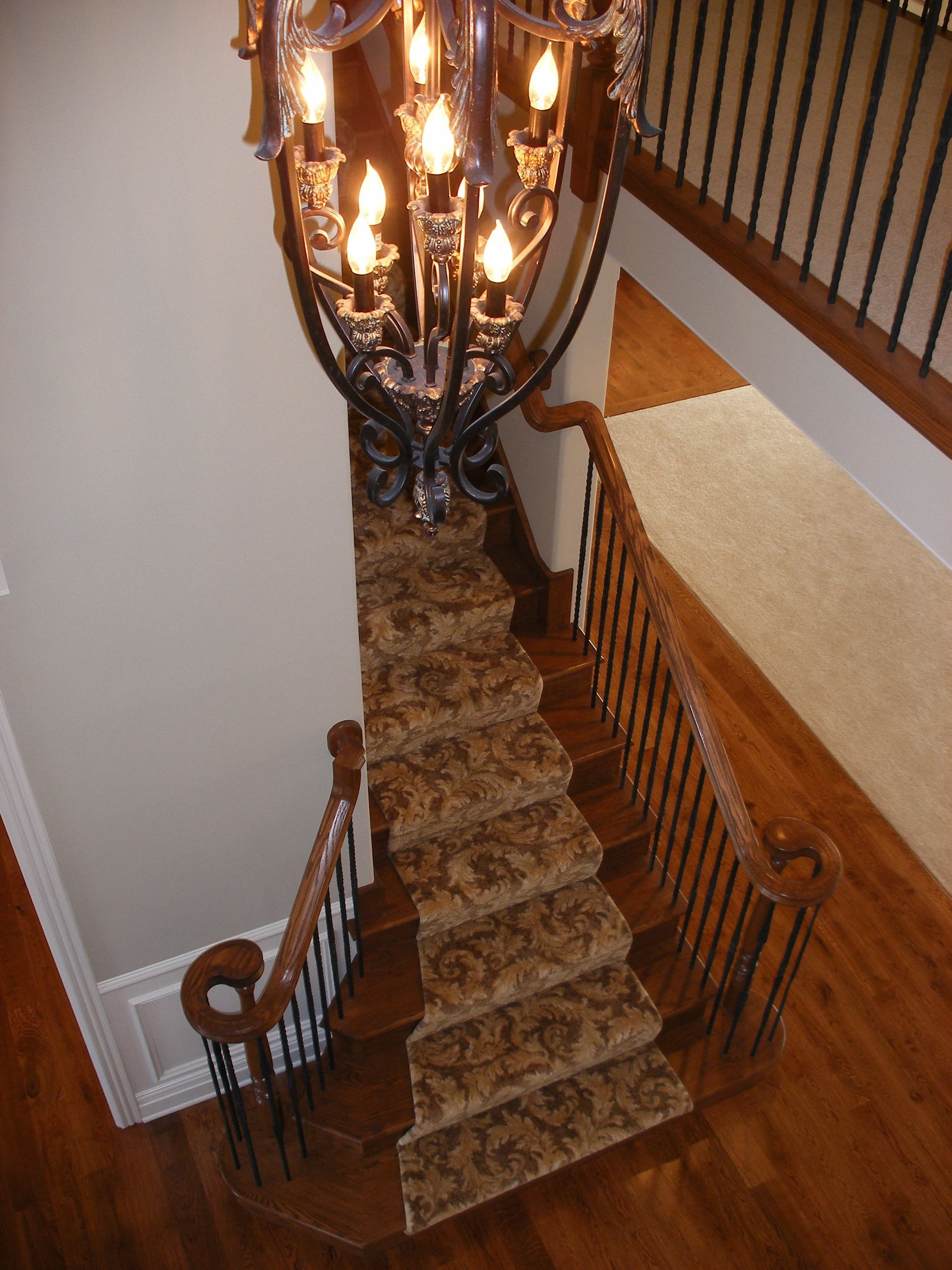 Stairs with Flared Sides