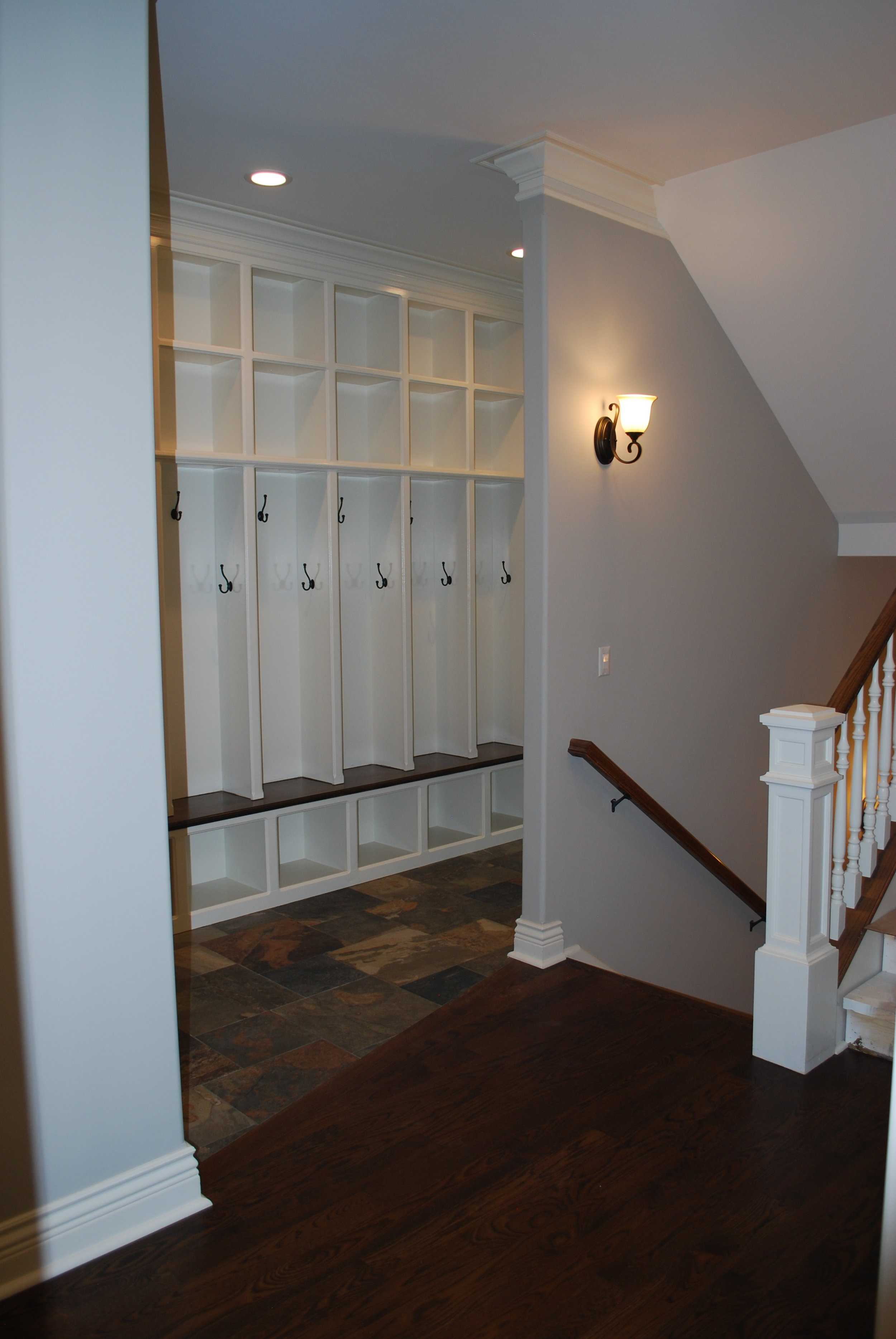 Mega Lockers in Mudroom Room