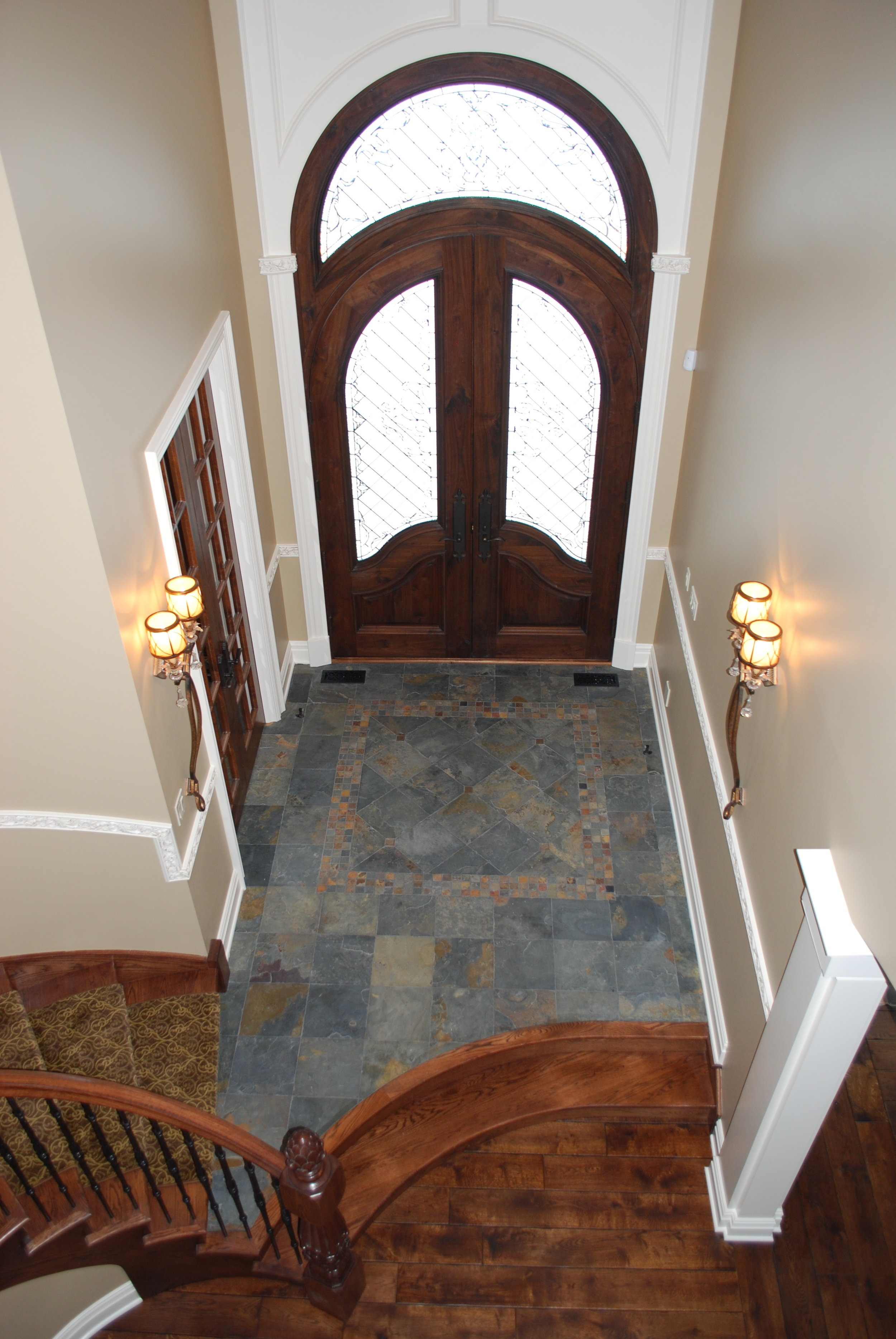 Slate Flooring Entry in Castle Home