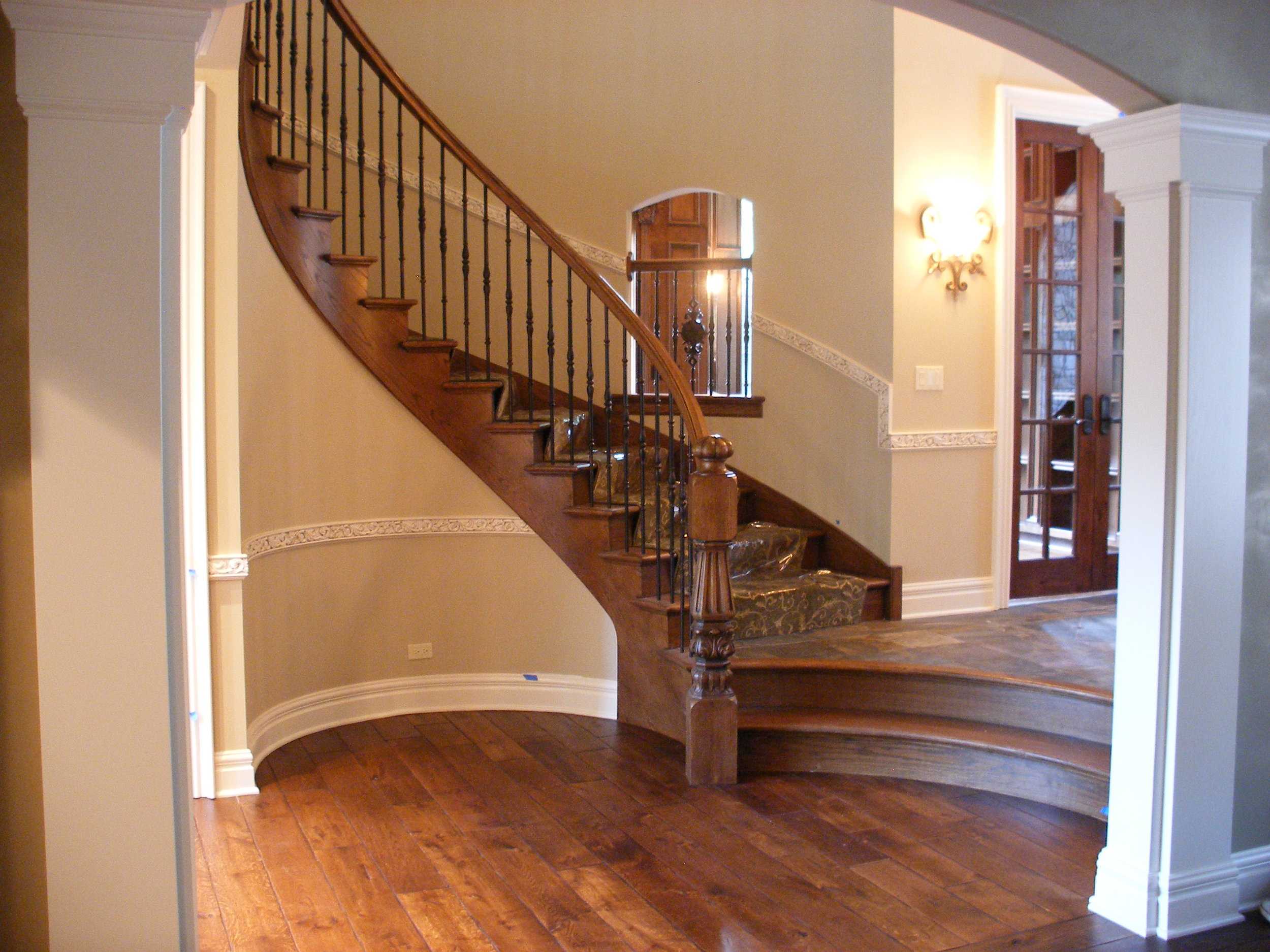 Curved Foyer Staircase
