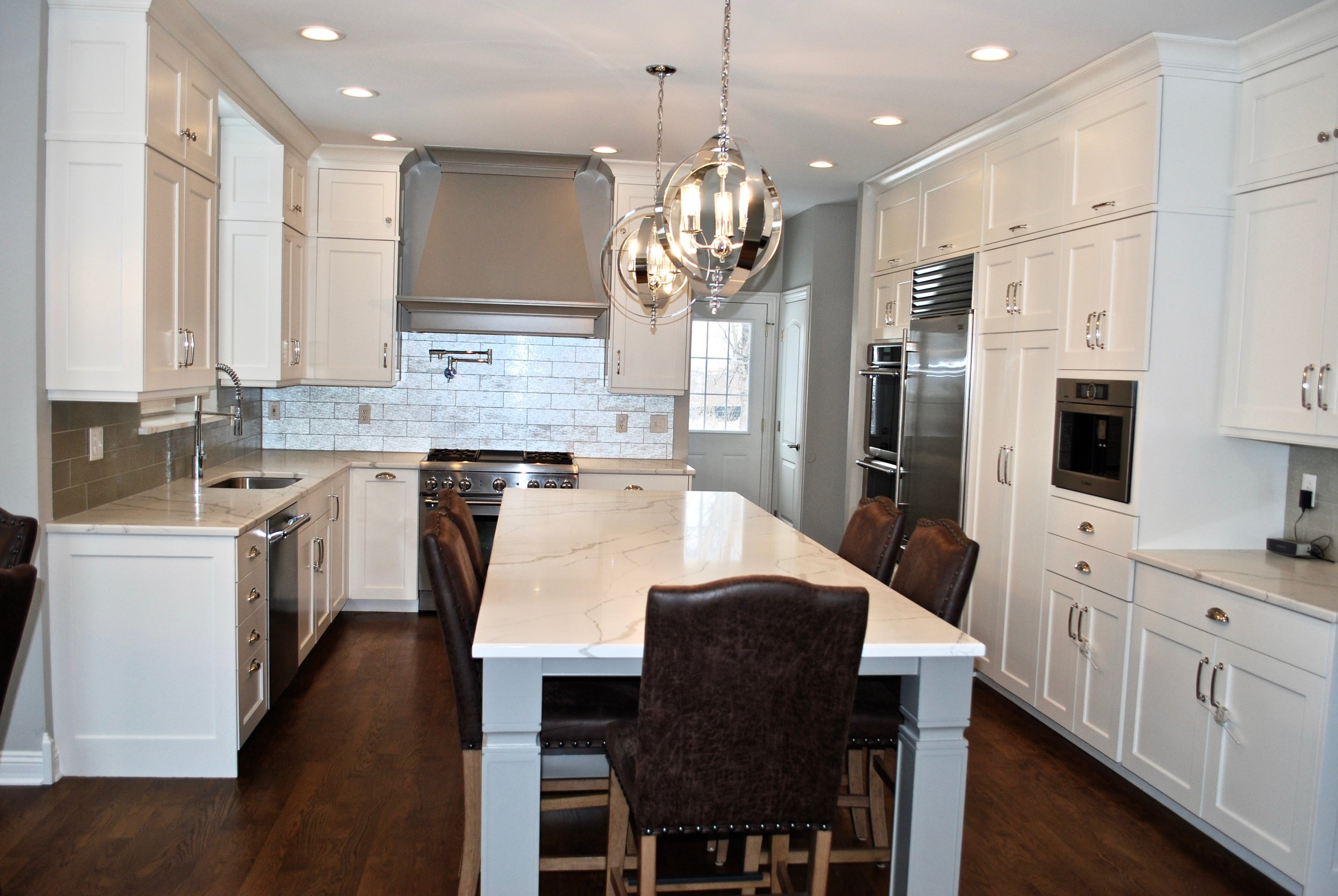 Seating in Oversized Island- Updated Kitchen St. Charles IL.