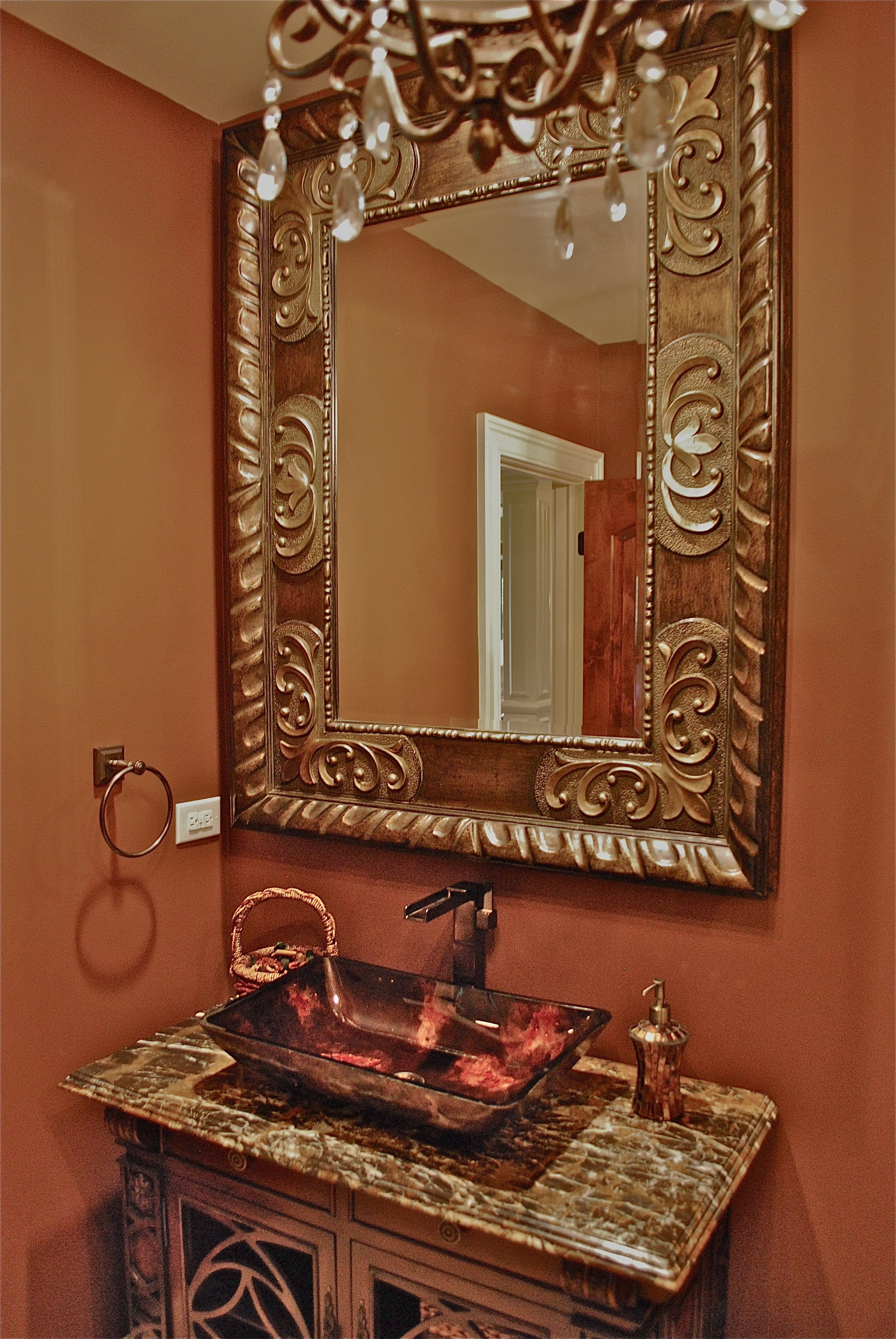OVER THE TOP BATHROOM POWDER ROOM ST. CHARLES