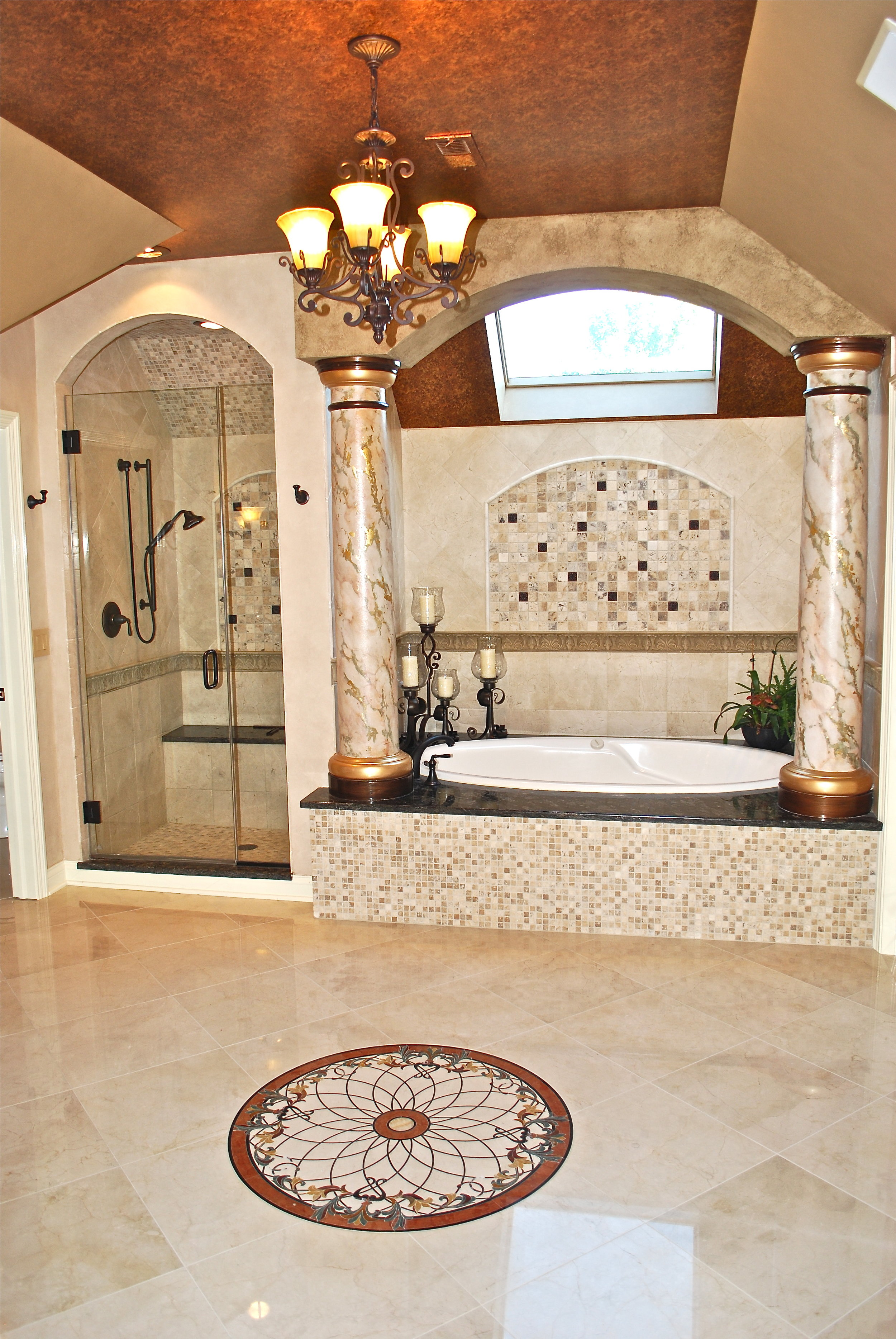 OVER THE TOP BATHROOM REMODEL IN  ST. CHARLES IL
