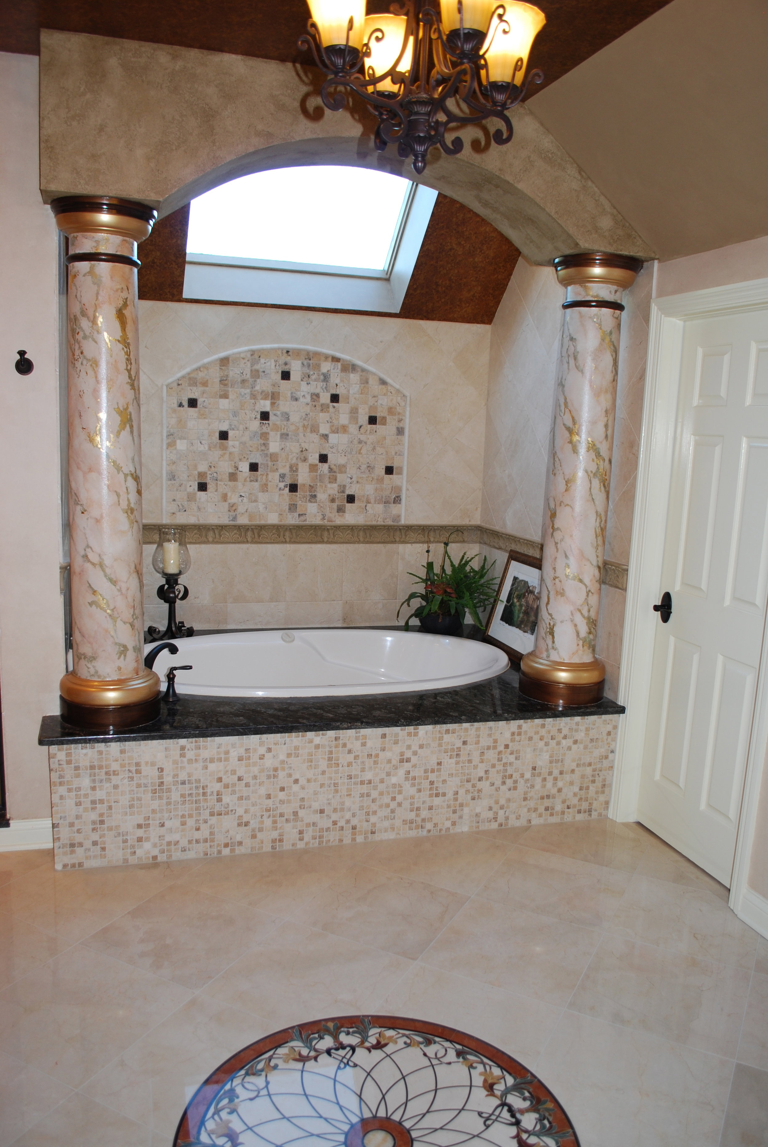 CUSTOM TUB DECK IN ST. CHARLES OVER THE TOP BATH REMODEL