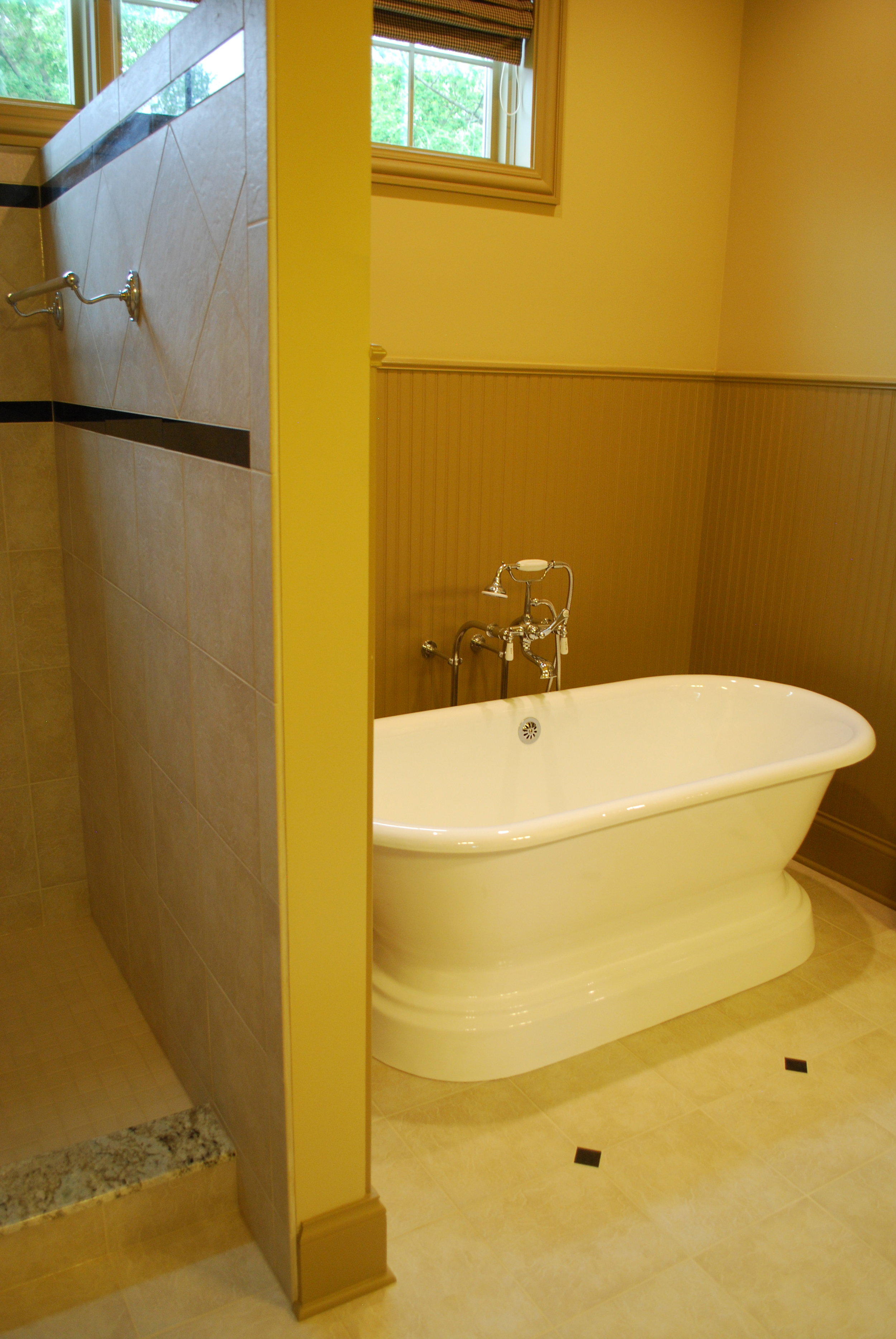 FREESTANDING TUB WITH WAINSCOTING IN GENEVA IL REMODEL