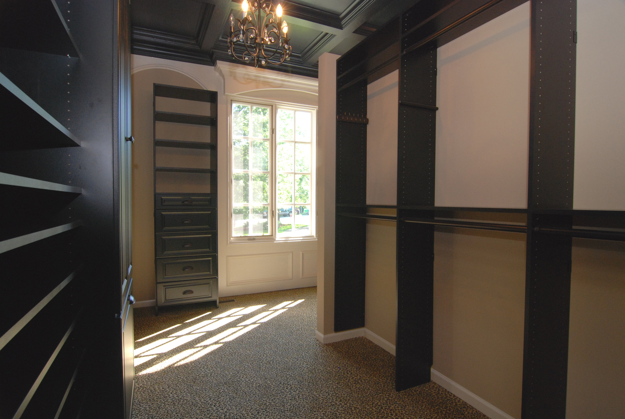 Study Turned into Master Closet on this First Floor Naperville Illinois Home