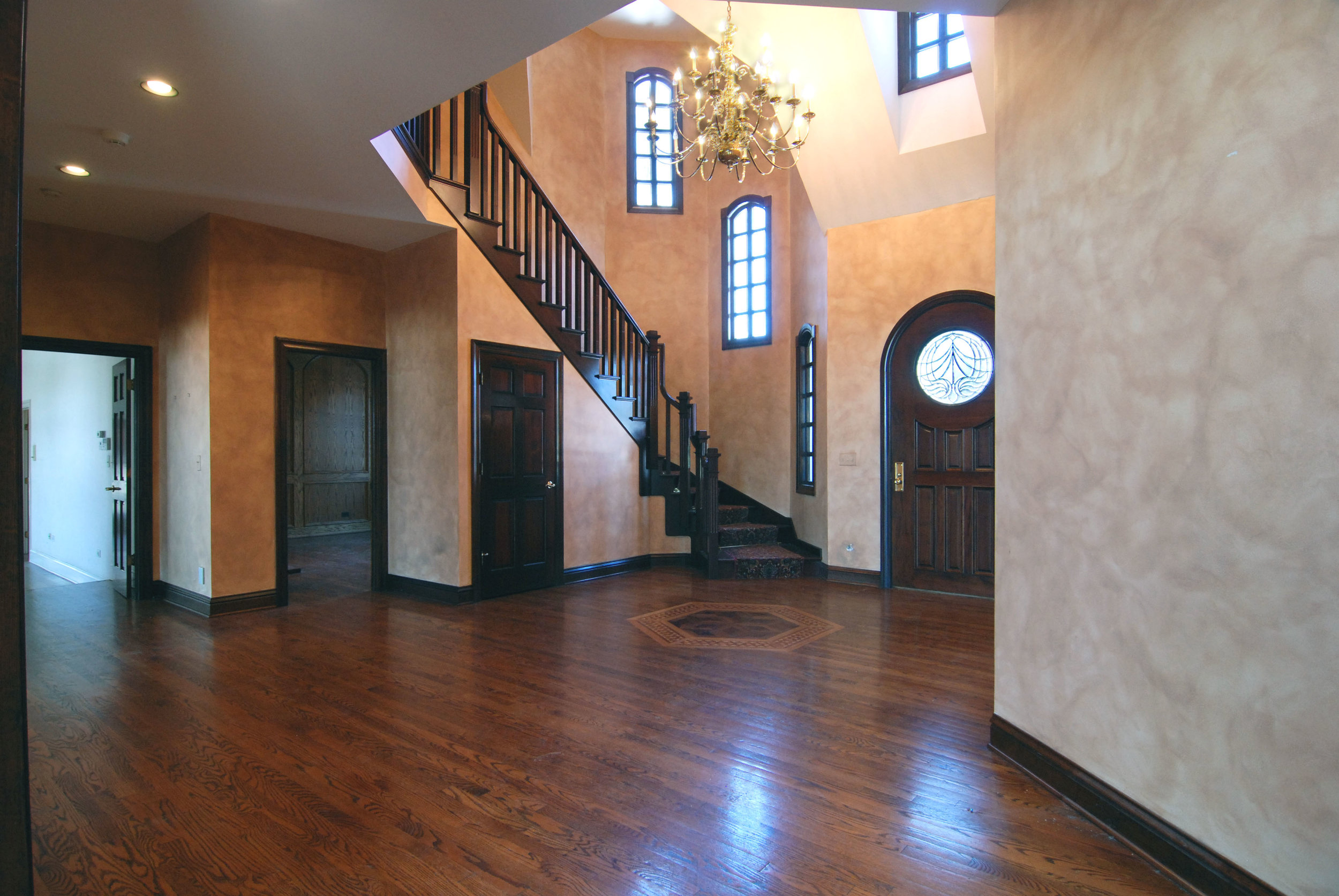Outdated Naperville Foyer in Larger Custom Home Built in the Early 1990's. Ready for Updating & Remodel