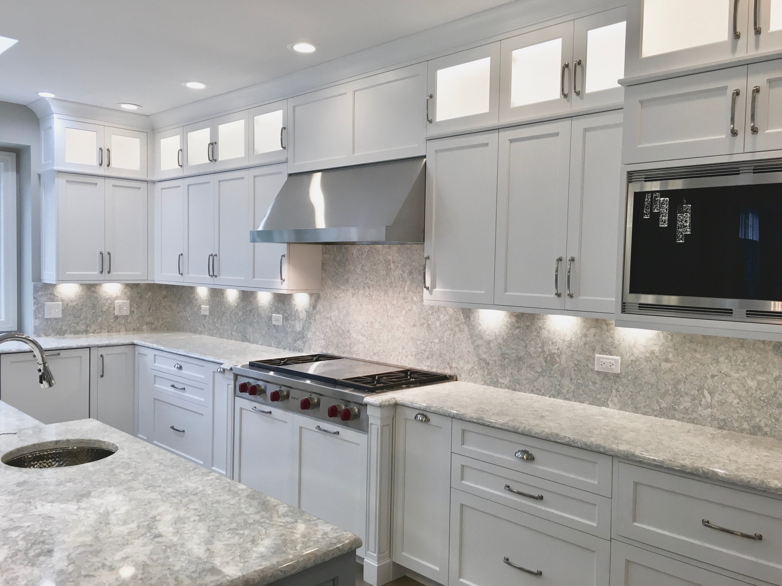 Custom Kitchen & First Floor Remodel in South Barrington IL. Completed by Southampton Builders LLC.