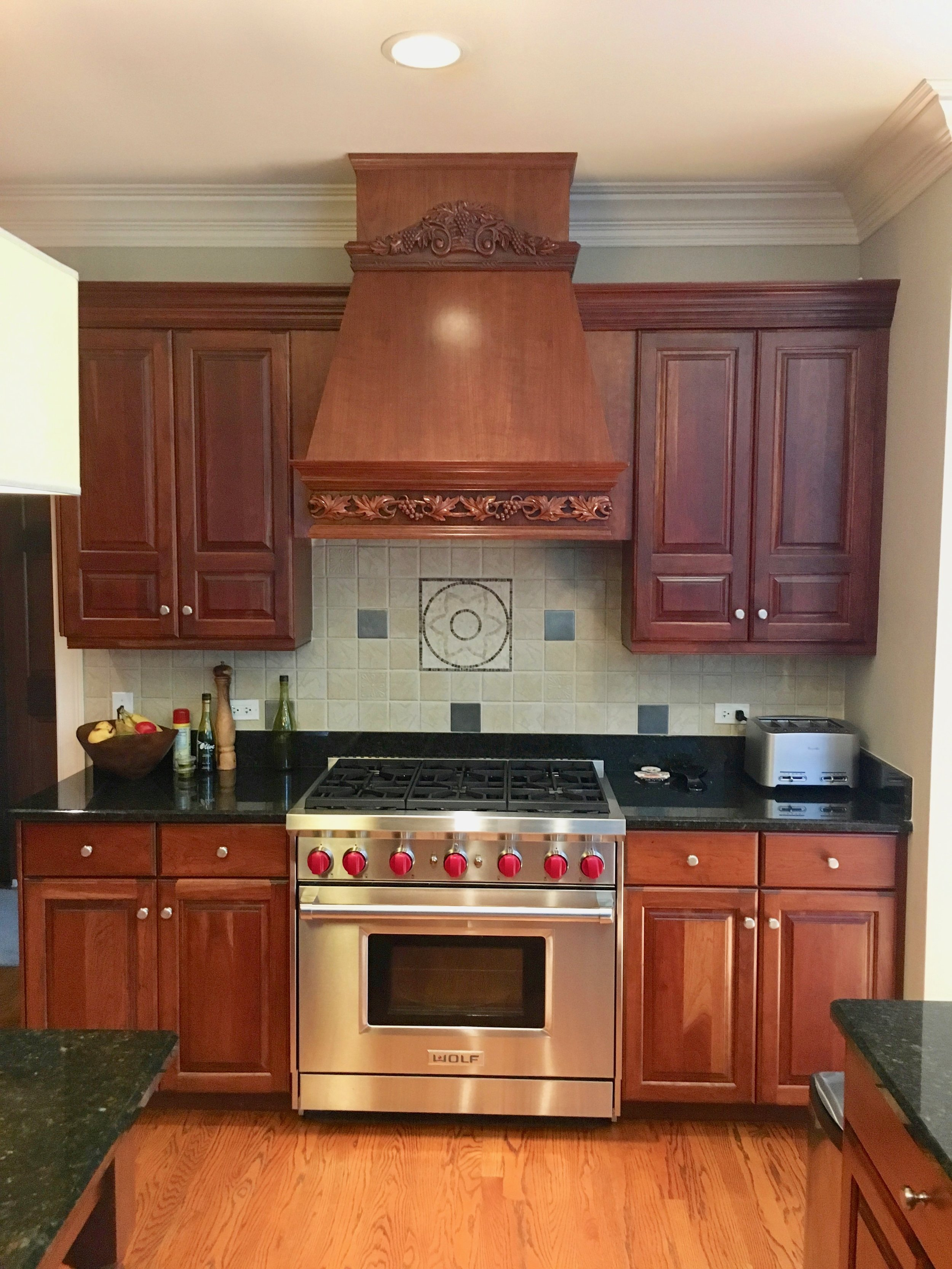 BEFORE PHOTO OF DATED NAPERVILLE IL CUSTOM HOME  HOOD