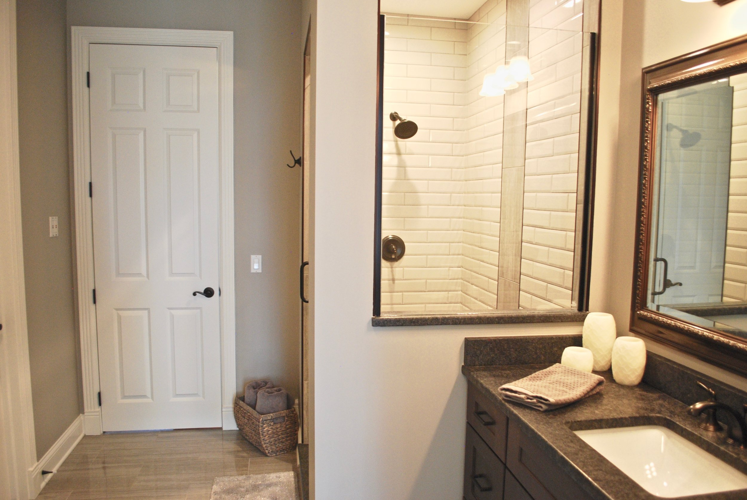 First Floor guest bathroom remodel in this St. Charles IL. Custom Home. Looking to Remodel & Update your Bathrooms in St. Charles IL? Call Southampton Builders for All of Your Custom HomeRenovation Needs!