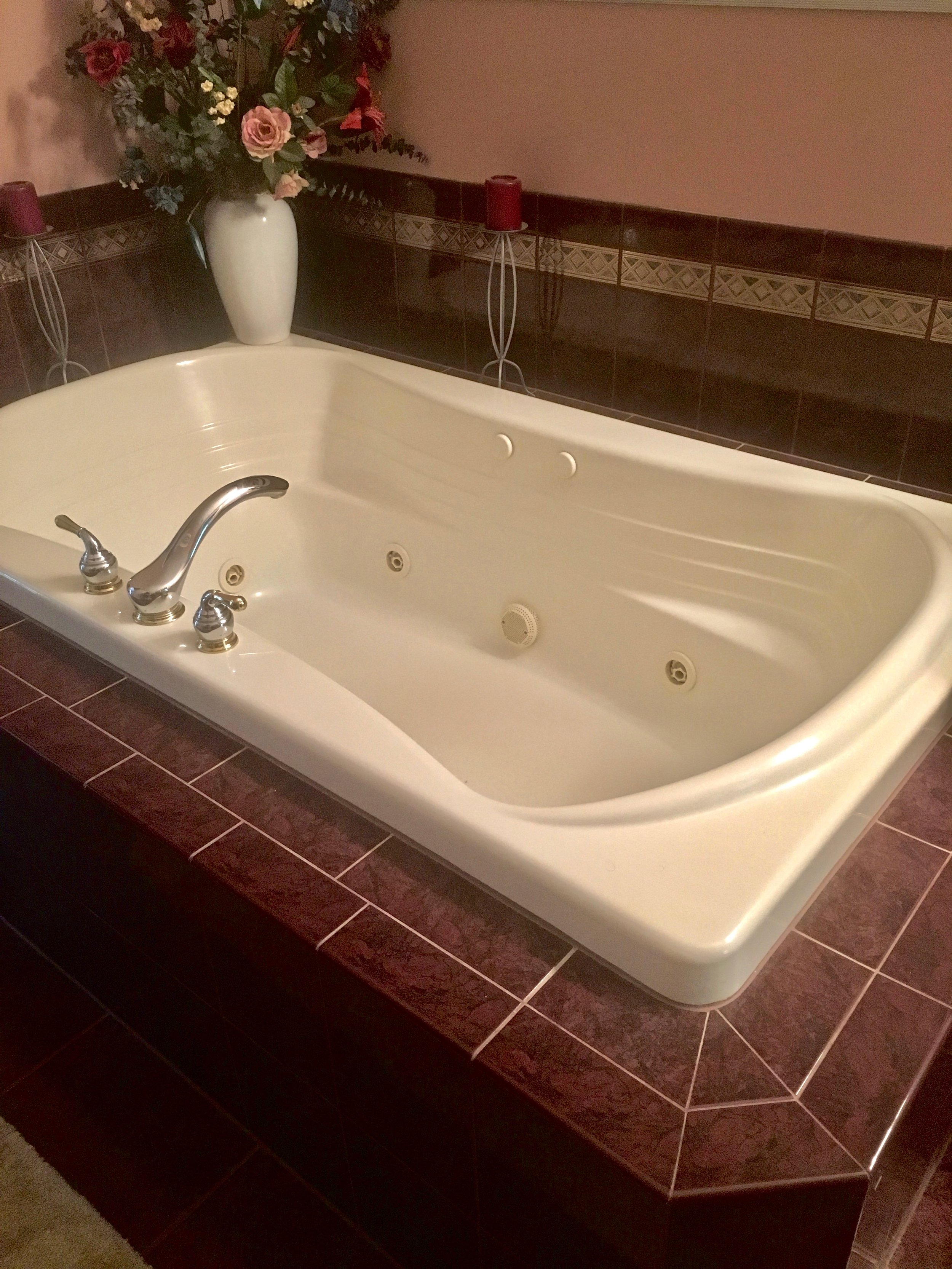 Looking to Remove Your Master Bathroom Oversized Whirlpool Tub & Replace it With a Large Walk in Shower? Take a Look what we did here! St. Charles & Naperville Outdated Bathrooms