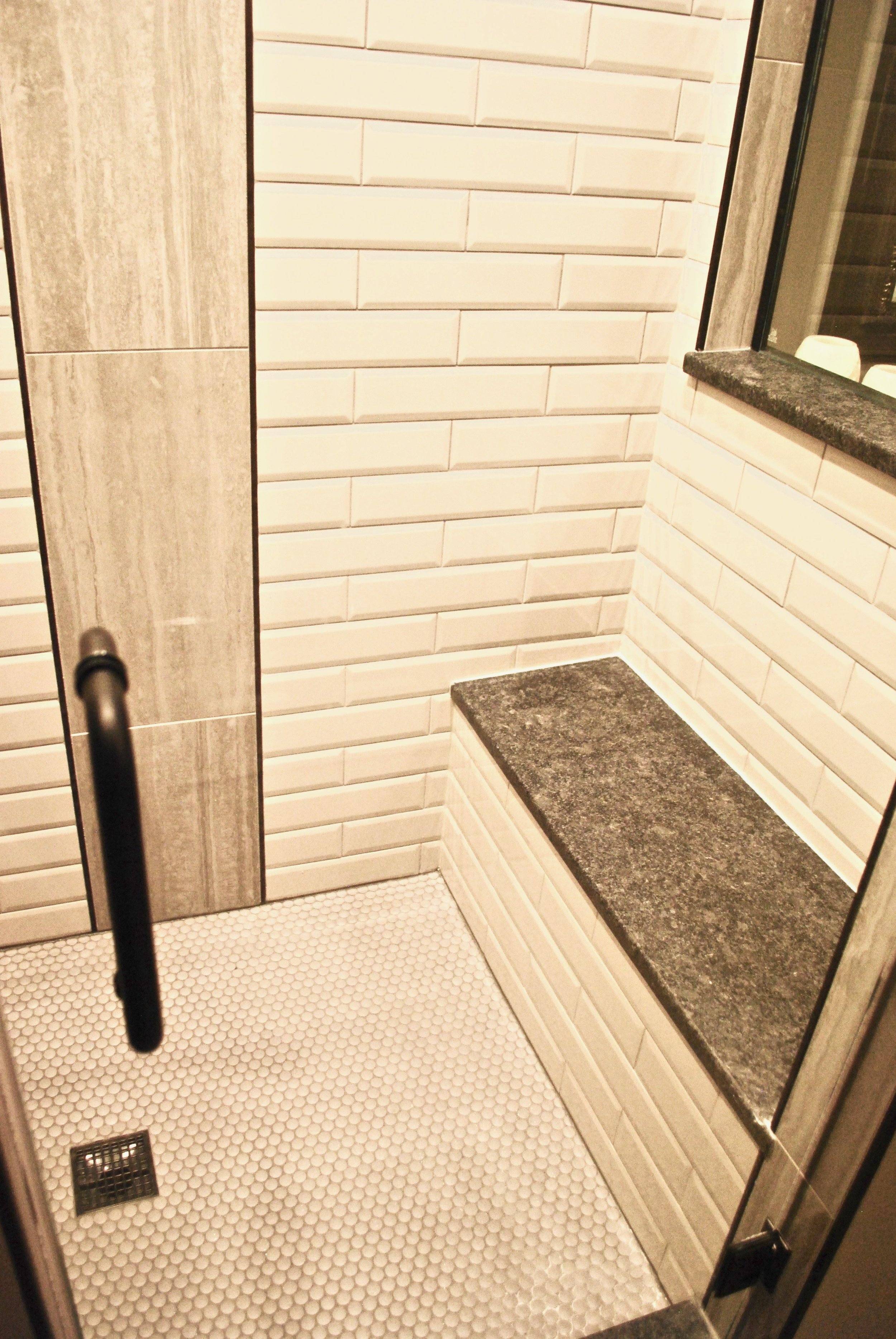 Shower Remodel in this St. Charles IL Custom Home. Master Shower Renovations & Remodeling in Naperville IL.