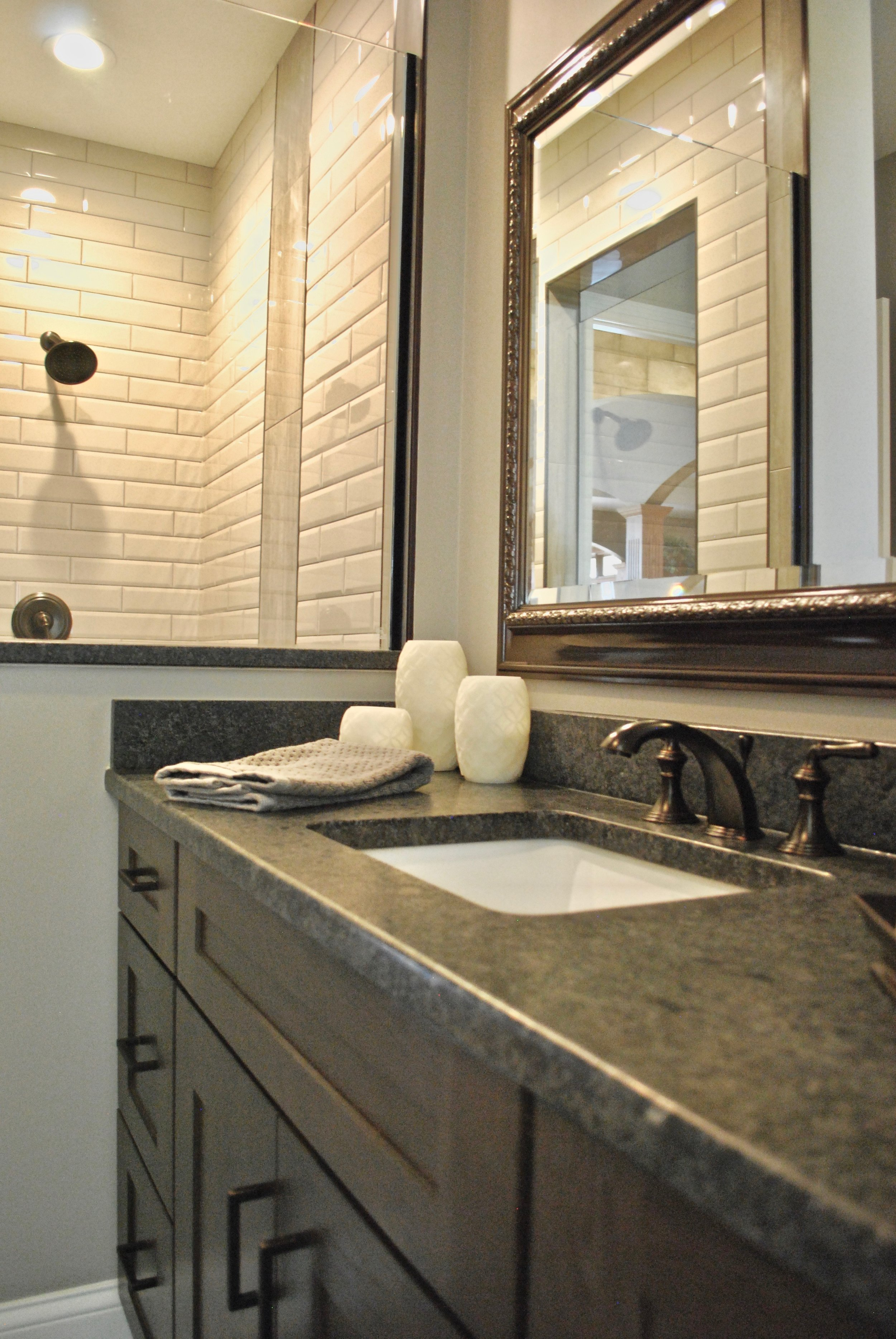 Custom bathroom remodel in st. charles il. Home Updating & renovations. Naperville IL.