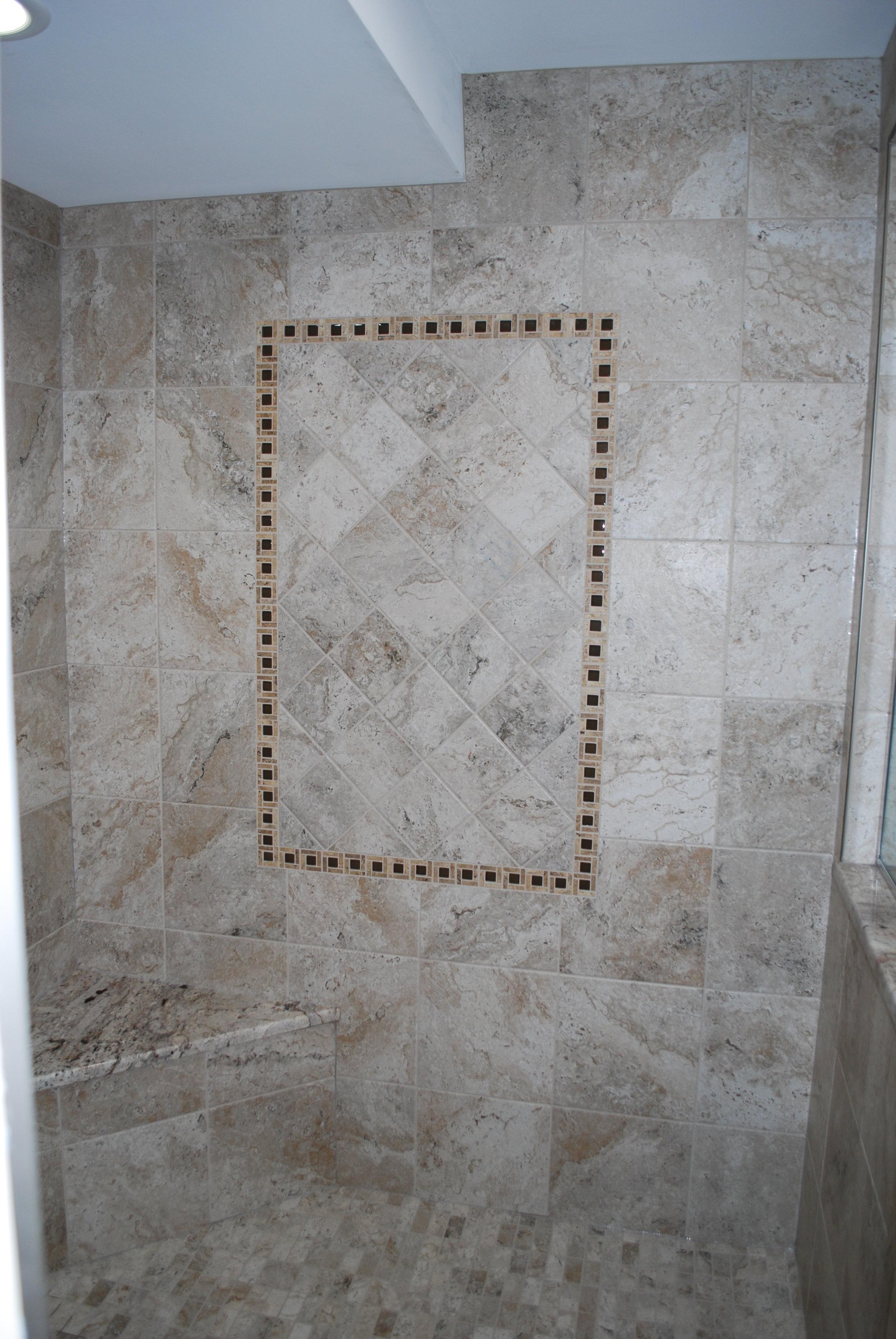 Shower Remodel in Geneva IL.  Master Shower Enlargement