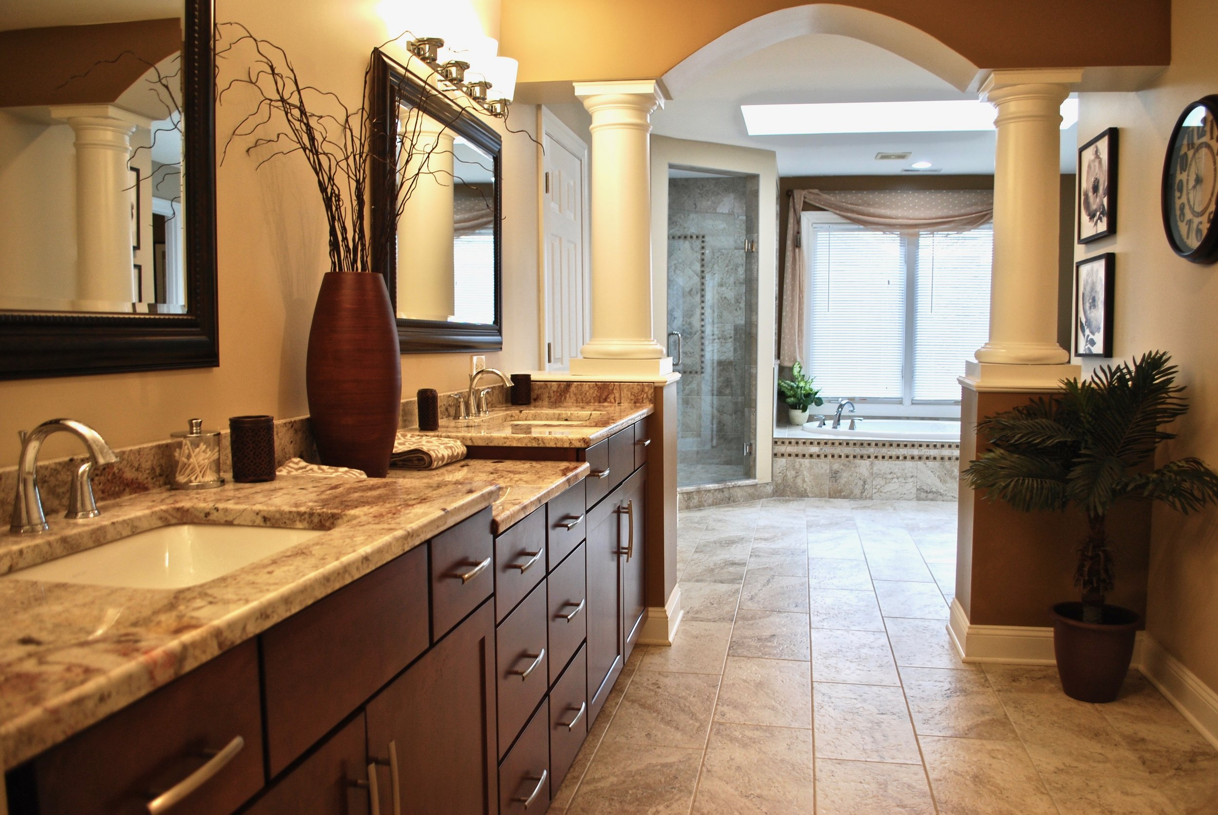 Dream Bathroom Remodel in Geneva IL.  Eagle Brook Subdivision - Shower Enhancement