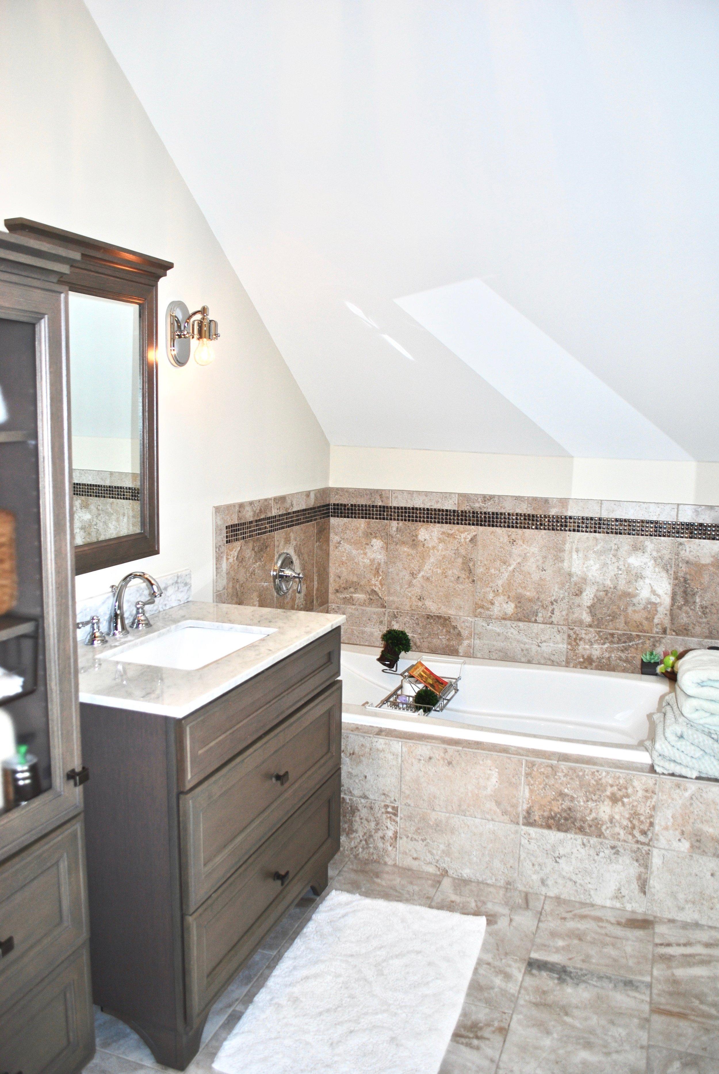 Attic Bathroom Addition in Illinois