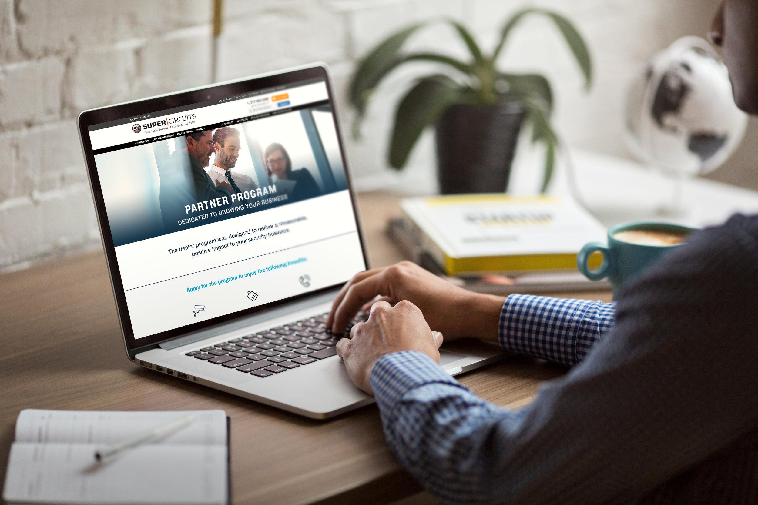 Dealer Program Landing Page - Web design