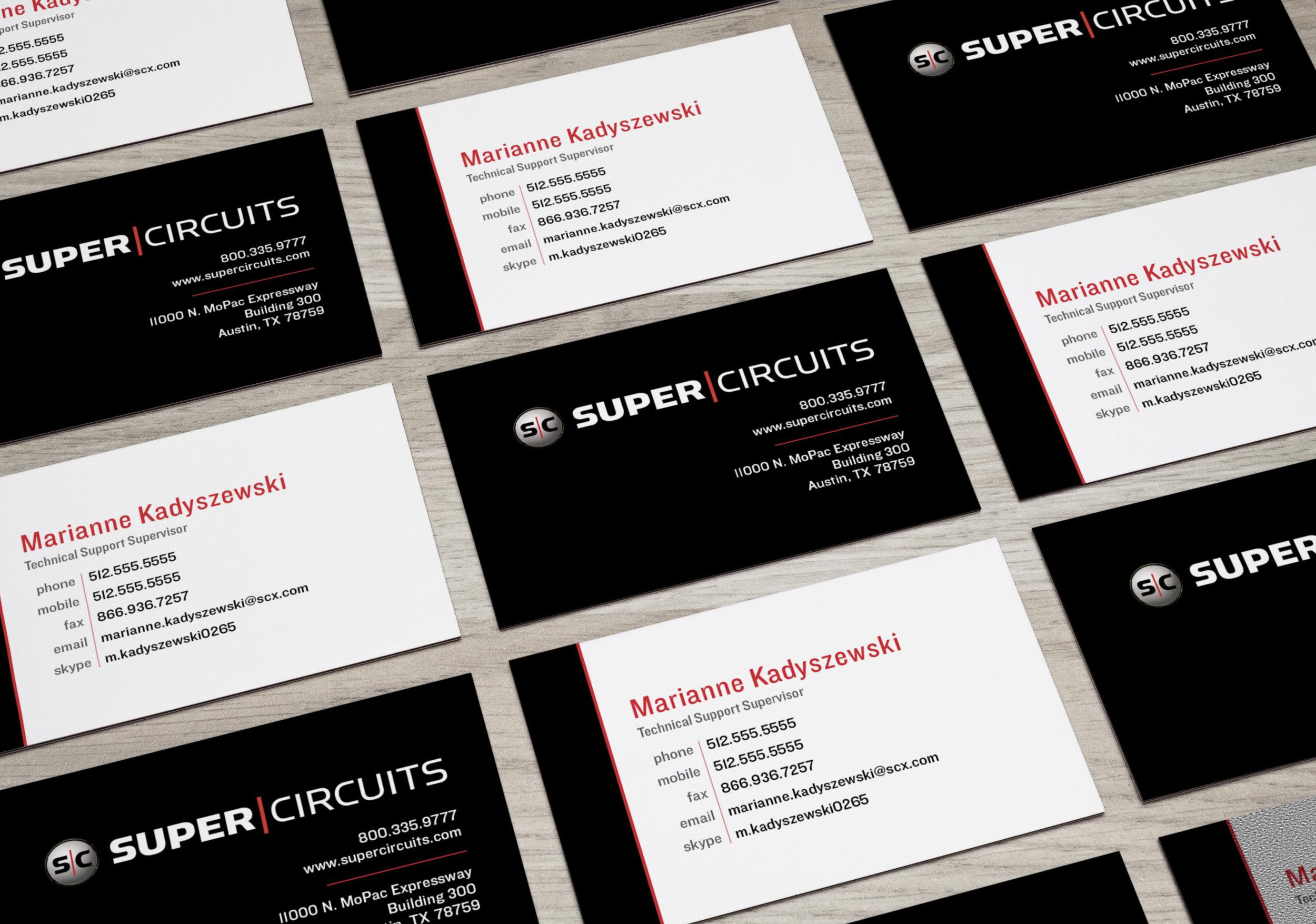 Supercircuits Business Card Refresh - Branding Materials
