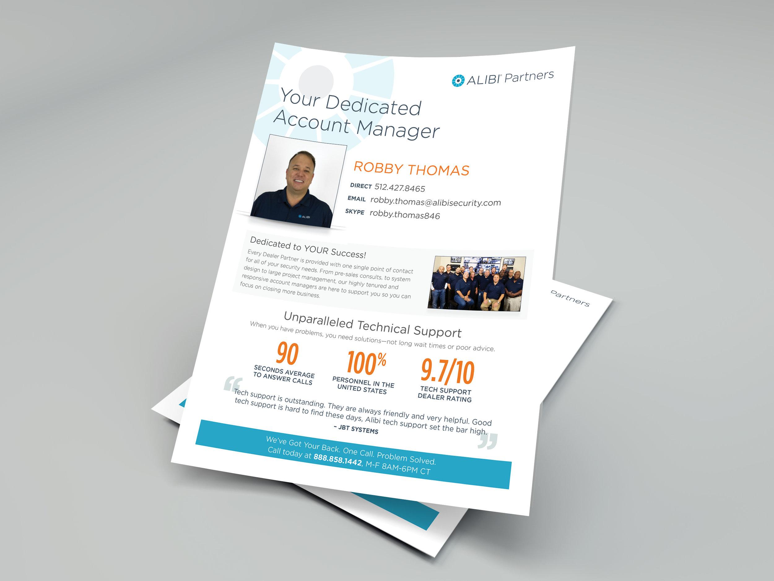 Alibi Security Dealer Proposal Pages - Informational Fyler Design
