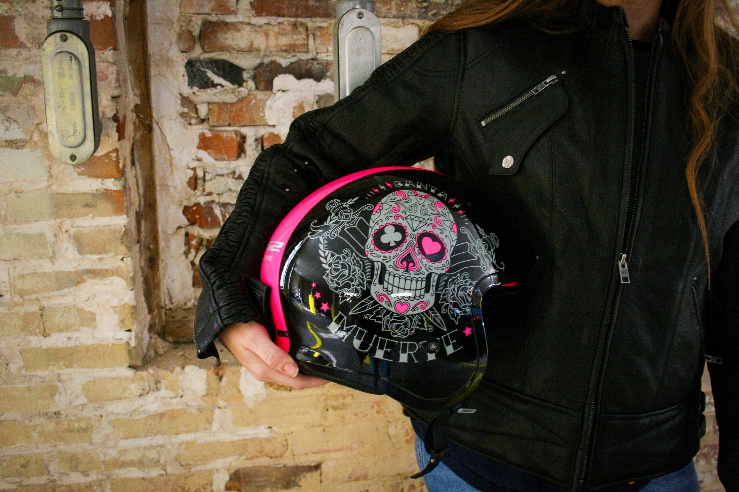 Sugar Skull with Pink