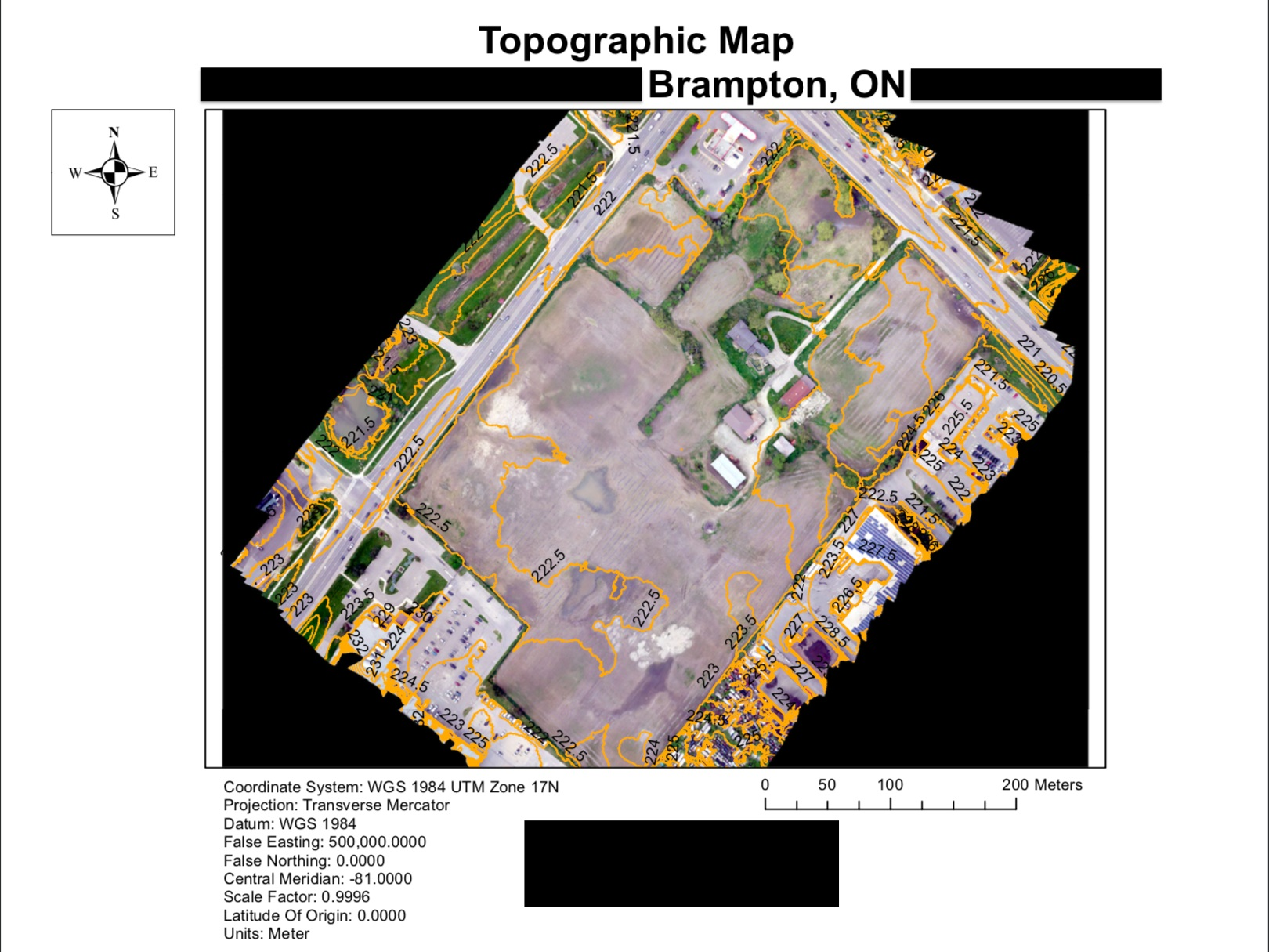 Construction - A firm overseeing the construction and development of commercial real estate space in Southwestern Ontario contacted us for aerial data and measurements, helping lower operational costs. One key finding we provided them was topographic data for BIM management during the pre-construction phase.