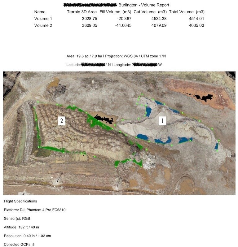 Aggregates / Mining - With drone-based surveying & mapping, mining clients have optimized layouts of their mining facilities and infrastructure, thanks to regularly updated basemaps. Permitting and application processes are more streamlined thanks to high-resolution maps and accurate 3D models of sites, shareable with permitting authorities. Data of sites spanning even thousands of acres is collected in a fraction of the time versus traditional methodologies.With state-of-the-art drone and post-processing softwares, areas, volumes and other measurements are identified with accuracy to within 3 cm (No Ground Control) and down to within 2 cm (with Ground Control). With bulk density factors of material types, net tonnage is quickly calculated to ensure inventory control measures have been met. Collected data is also exportable to a multitude of outputs and many file types.