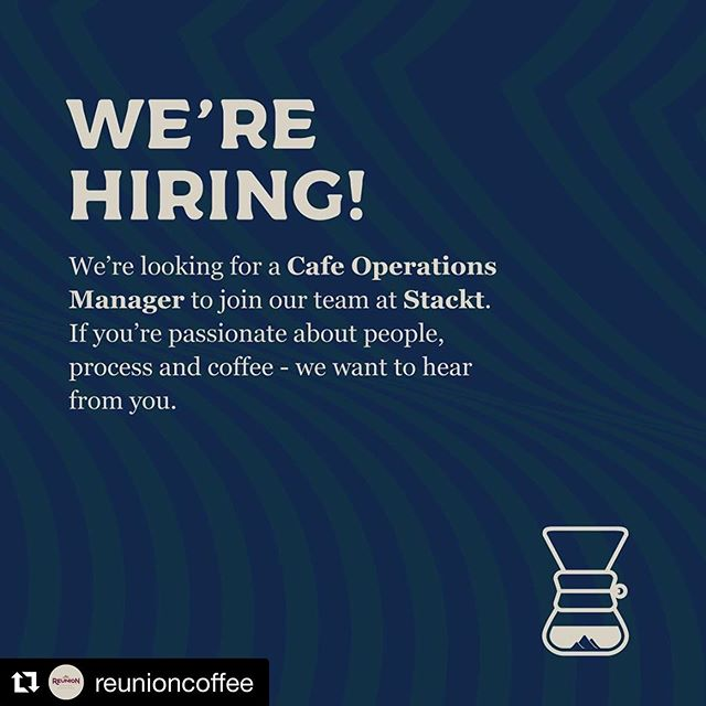 Our friends at @reunioncoffee are hiring! Details 👇#Repost @reunioncoffee with @get_repost ・・・ 👋🏻 Come work for us! Click the LINK in our BIO to see if you're a fit and for details on how to apply. ☕️