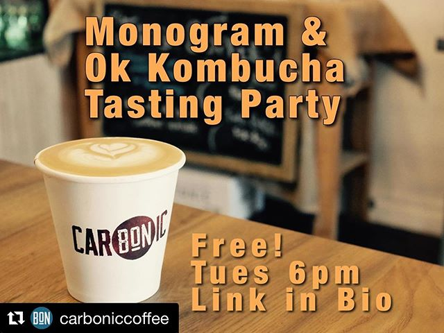 It's a party! It's free! You're invited! 👉 @carboniccoffee Repost @carboniccoffee with @get_repost ・・・ Don't forget!  We're hosting a little flavour extravaganza with @monogramco coffee and @ok.kombucha kombucha.  Monogram is a leader in the Canadian coffee scene and recognized internationally for it's beautifully roasted coffees.  Justin from the Monogram team is in town for a few days and @safamv from @ok.kombucha was the 🔌 for this cupping!  Ok Kombucha is a Toronto local upstart that focuses on making really tasty beverages out of fermented teas.  Word on the street says Safa is going to bring some of his new top secret mango lemonade kombucha for everyone to try! 🤤  Attendance is free but there's an Eventbrite link in our bio.  Come hang out!  No coffee or kombucha experience necessary!! #torontocoffeecommunity #torontocoffeescene #torontocoffeeculture #torontocoffee #kombucha #torontokombucha #okkombucha #monogramcoffee