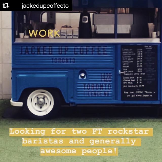 Our friends at @jackedupcoffeeto are hiring ⚡️ #torontocoffeejobs #Repost @jackedupcoffeeto with @get_repost ・・・ Come join the team! 🎖 New Liberty Village location opening soon!