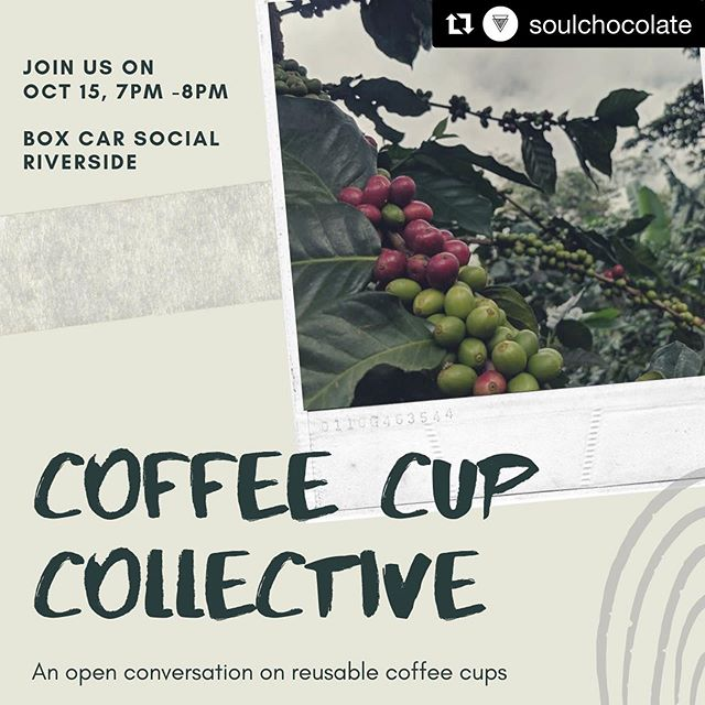 THiS IS RAD ♻️ ☕️ ☝️ #Repost @soulchocolate with @get_repost ・・・ We have our first Coffee Cup Collective meeting in two weeks; COME JOIN US! [FREE RSVP: LINK IN BIO]  It's time to start building a reusable cup program for Toronto; all ideas and initiatives are welcome. If you are a Cafe owner, a heavy coffee drinker, you care about sustainability and the environment; please join us at our first Coffee Cup Collective meeting.