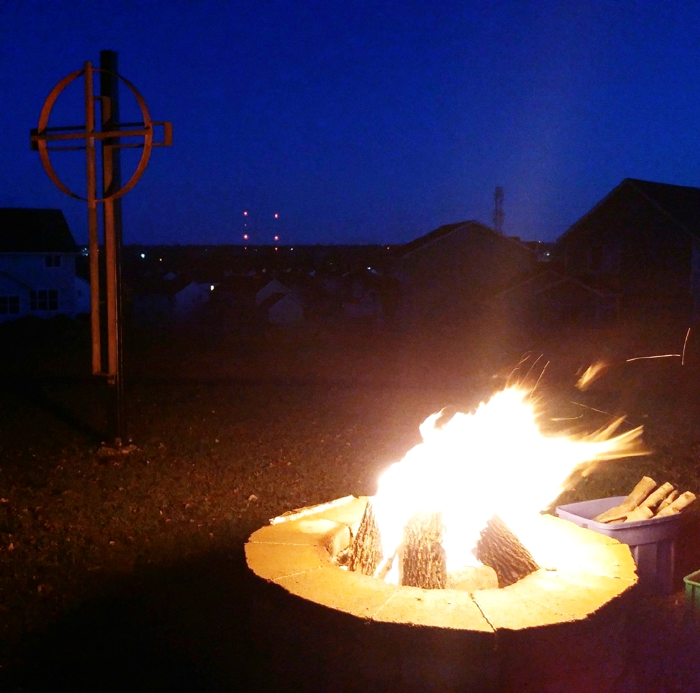 Photo taken at the Easter Sunrise worship - just before dawn and the Easter message was proclaimed.