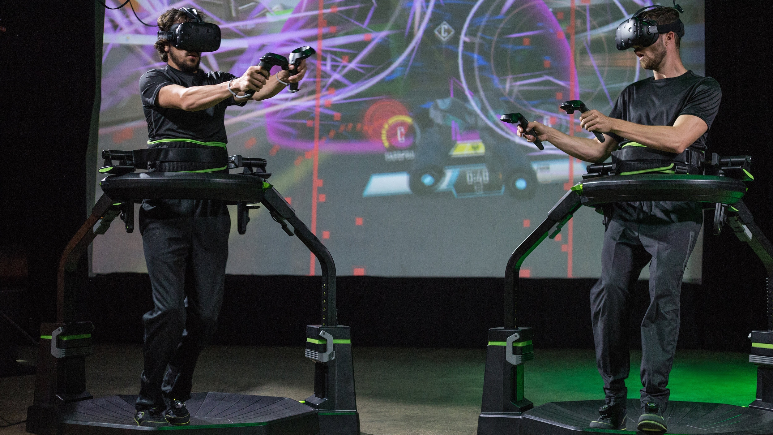 ... played in Virtual Reality on the  Virtuix Omni  Motion Platform.