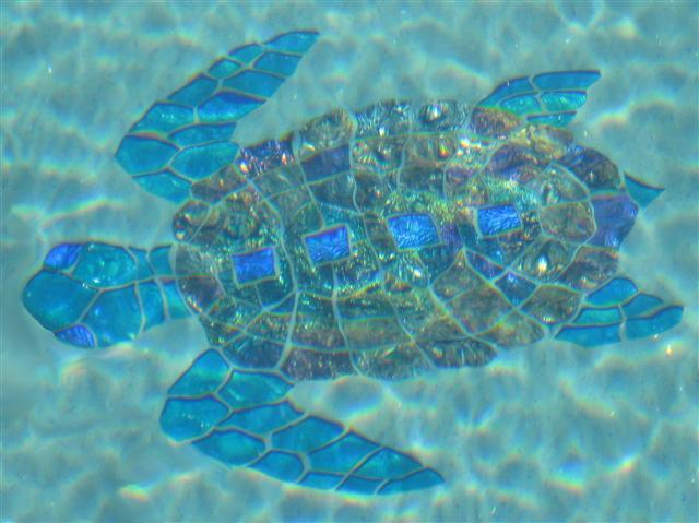mosaic sea turtles aquatic glass mosaics