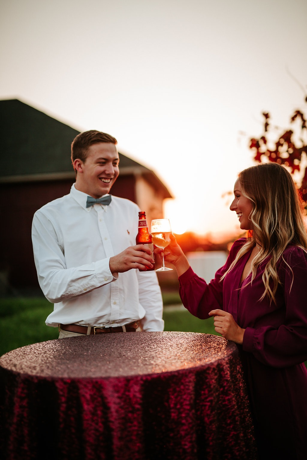 Unforgettable sunsets with unforgettable companions. Photo Credit: Taylor Dafforn Photography. Lane 201 Boutique (Dress)