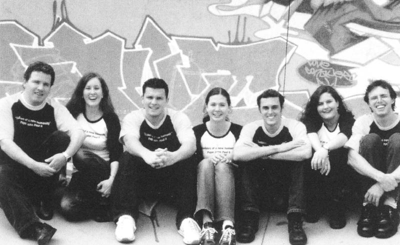 Left to Right: Martin Pannell, Veronica Ryan, Ryan Carter, Lisa Haydon nee Bennett, Adrian Stokes, Christy Honeysett nee Swire, Marty Thorsen