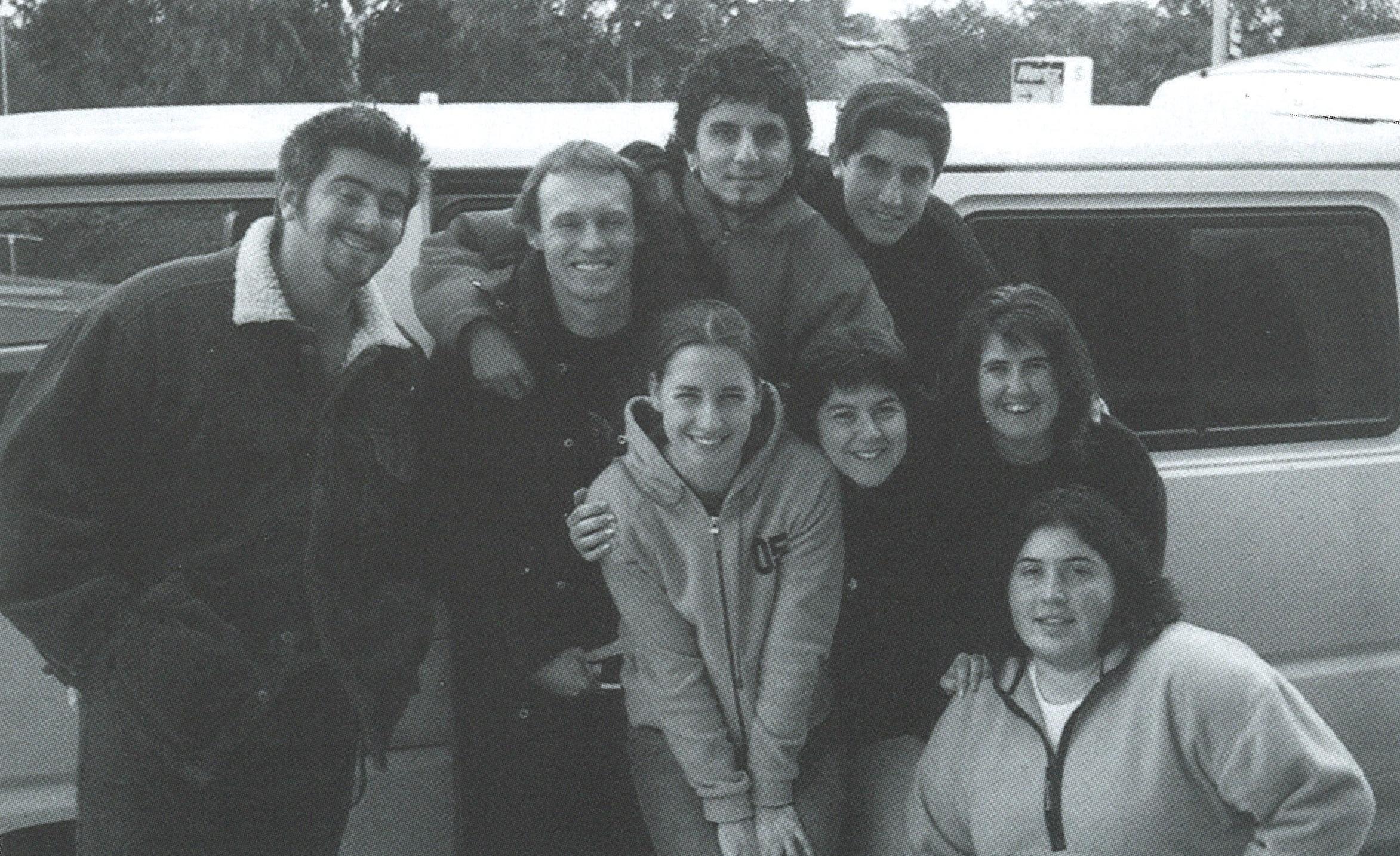 Back Row: Steve McKinley, Blair McWhinney, Carlo Denitto, Angelo (Harry) Benedetto Middle Row: Lidia Galea nee Seselja, Monica Smokrovic nee Romagnolli, Eilish O'Reilly (RIP) Front Row: Lucia McFarlane
