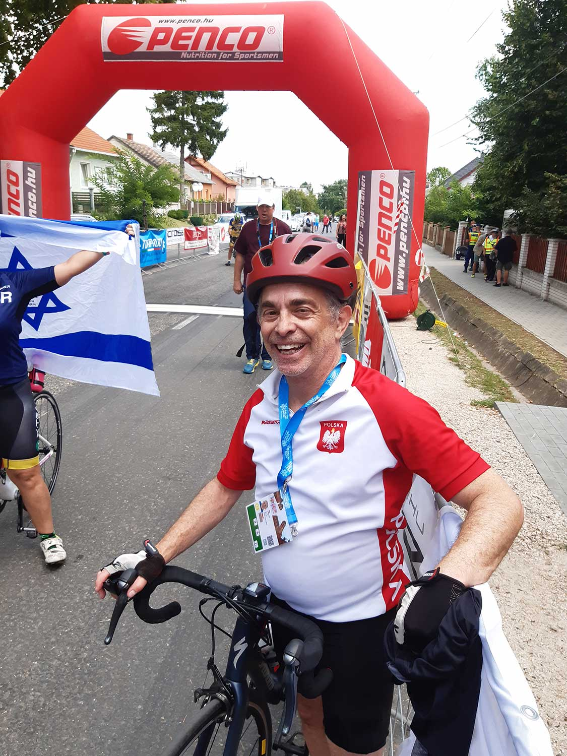 Neil Kaplan at Cycling Road Race at the 2019 European Maccabi Games