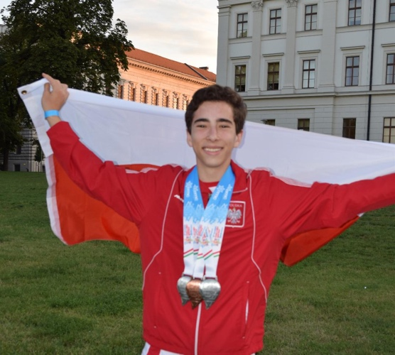 Harry Kaplan in First-Ever Three Medal Effort for Polish Athlete in Single Maccabi Games