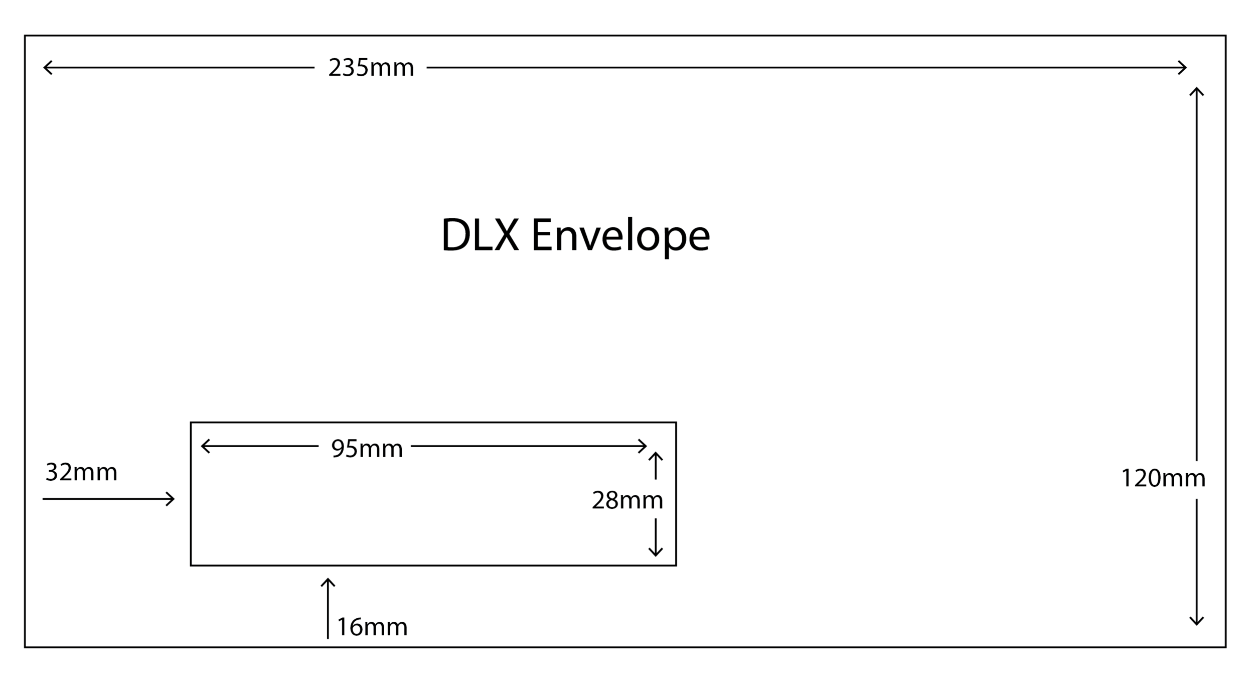 DLX Envelope with standard window size