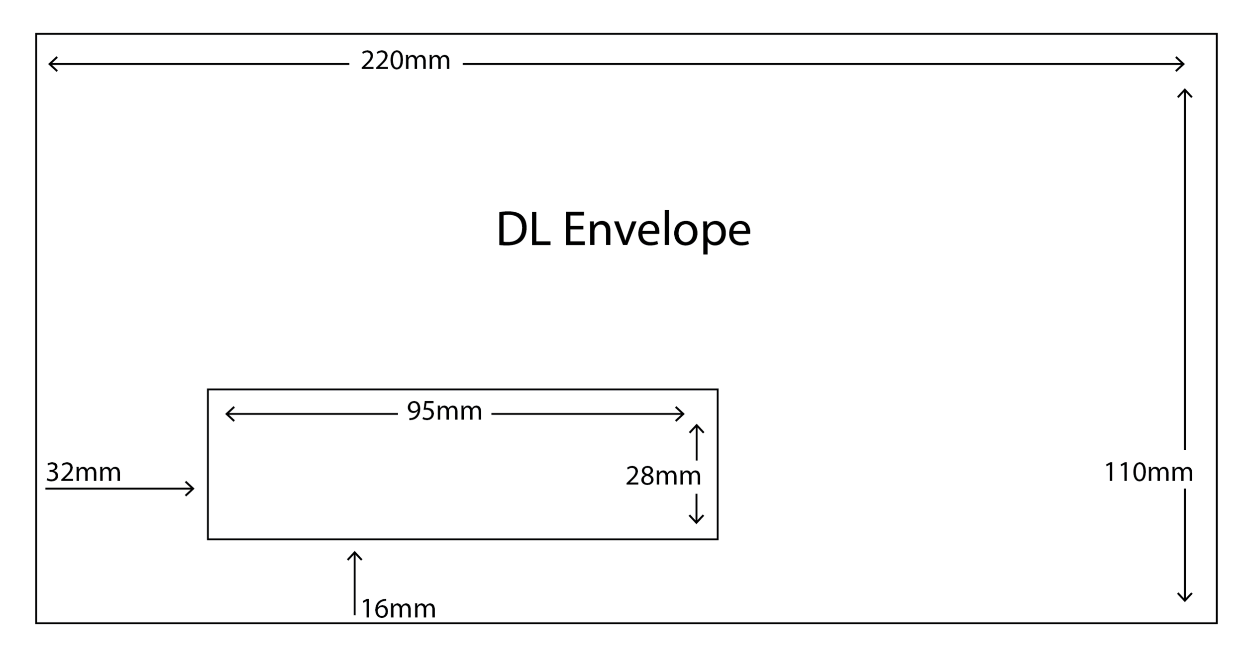 DL Envelope with standard window size