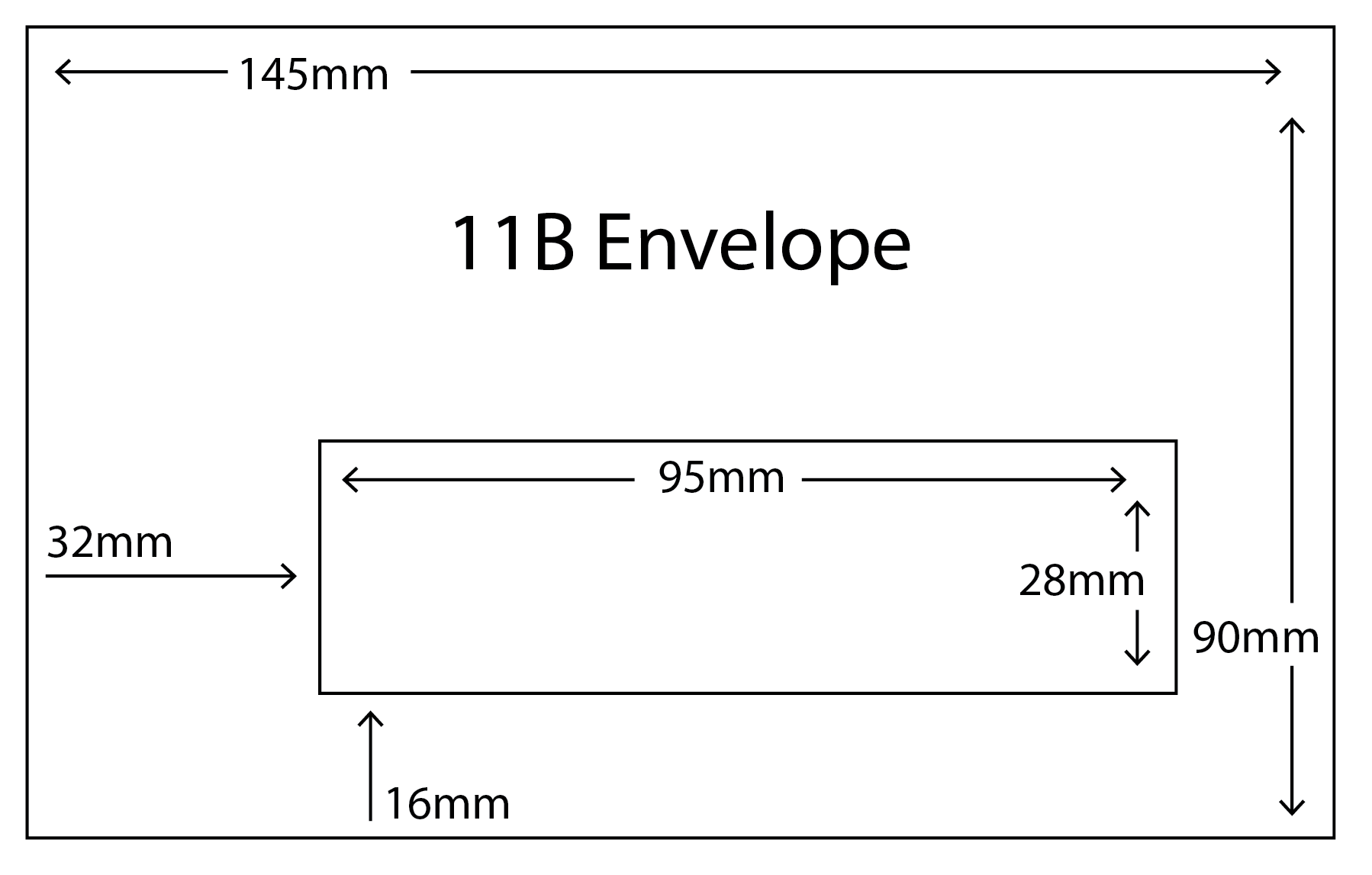 11B Envelope with standard window size