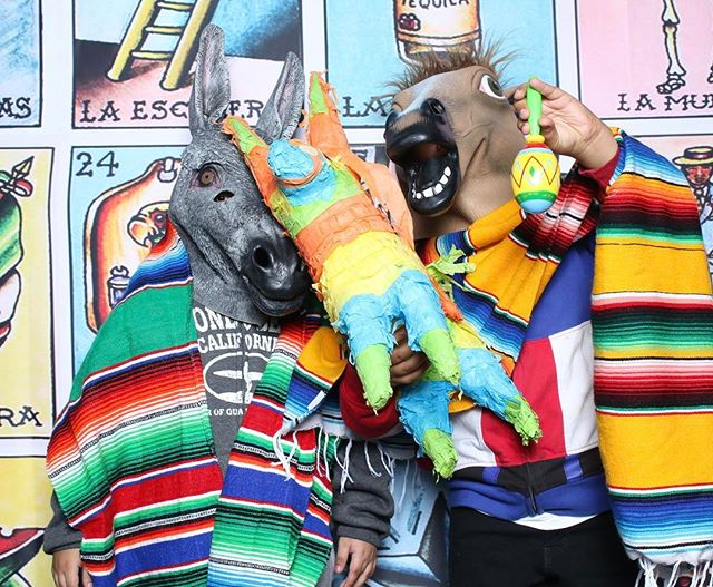 Sometimes at Rage and Company we act like Burros! Hahaha event we did for the @wilmingtonartwalk  on 5 de mayo