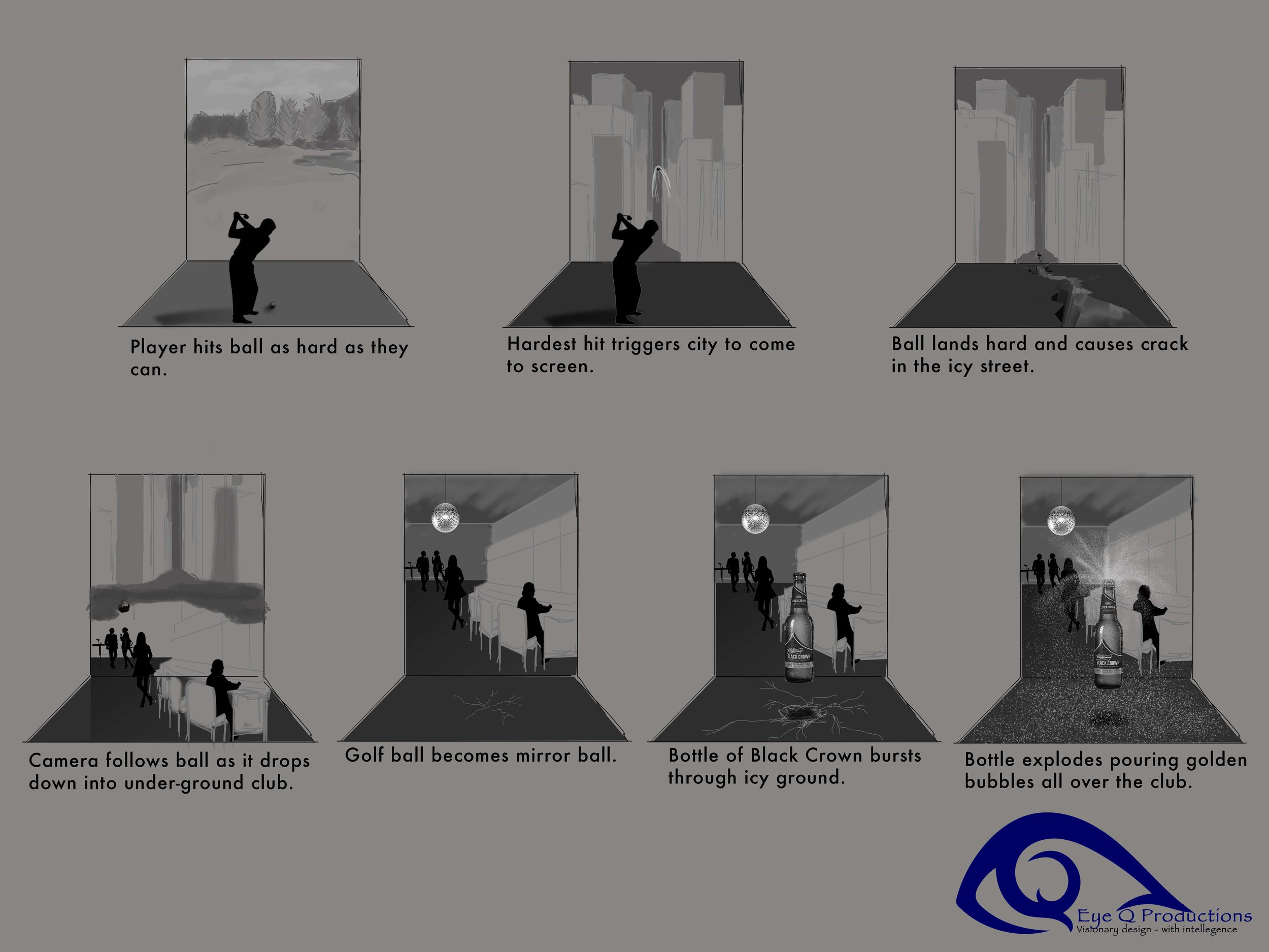 Storyboards for Interactive Projection